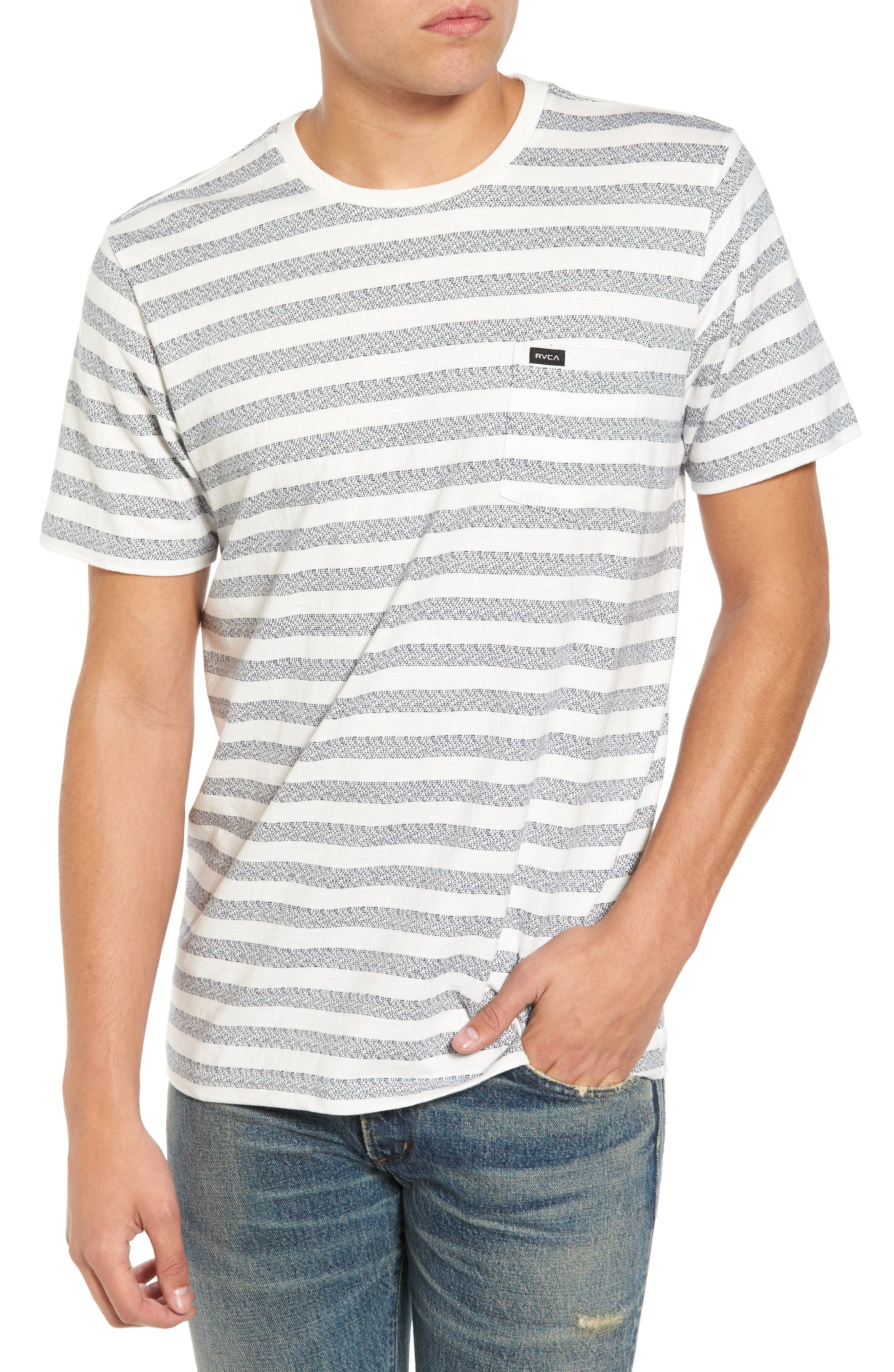 What's Shakin' Stripe T-Shirt,                         Main,                         color, Antique White