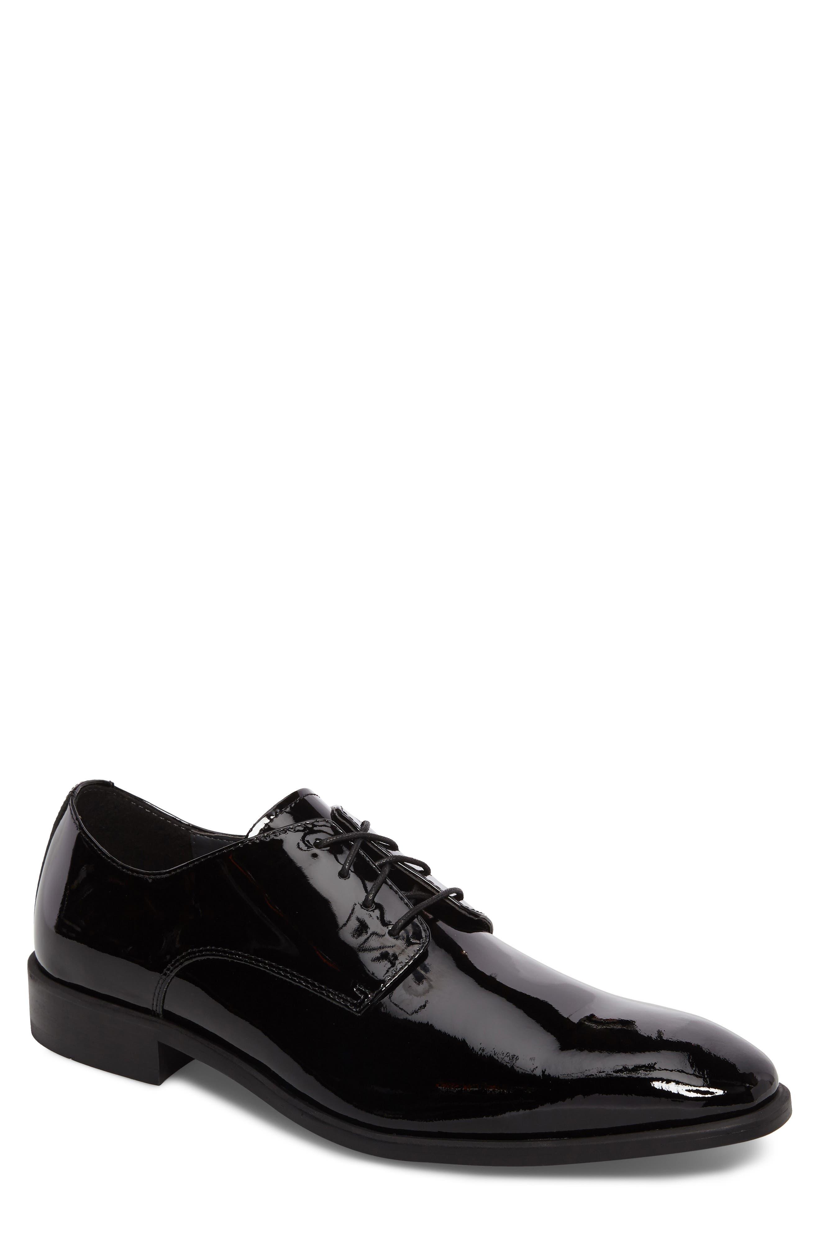 Dallas Plain Toe Derby,                             Main thumbnail 1, color,                             Black Patent Leather