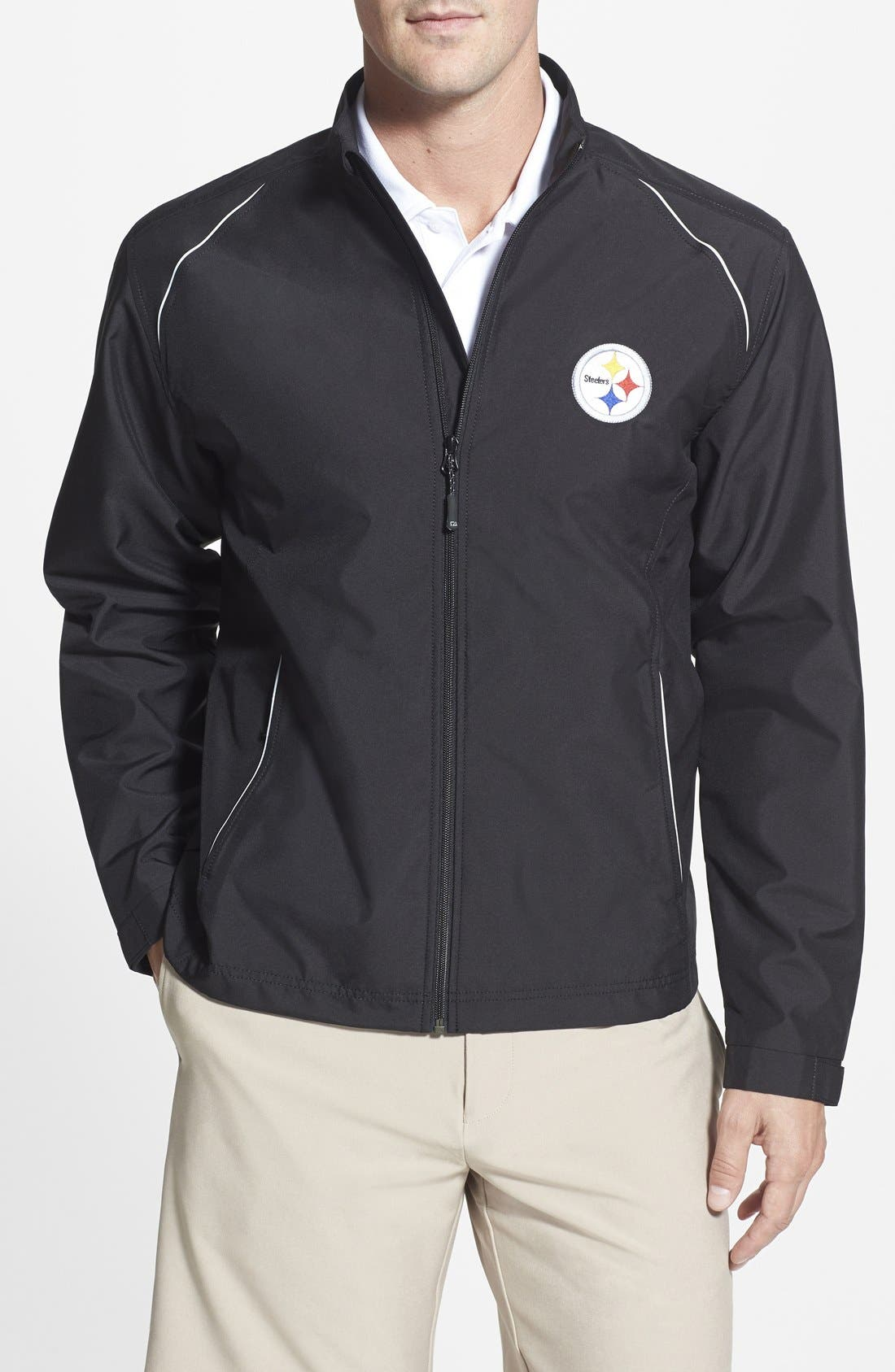 Cutter & Buck 'Pittsburgh Steelers - Beacon' WeatherTec Wind & Water Resistant Jacket (Big & Tall)