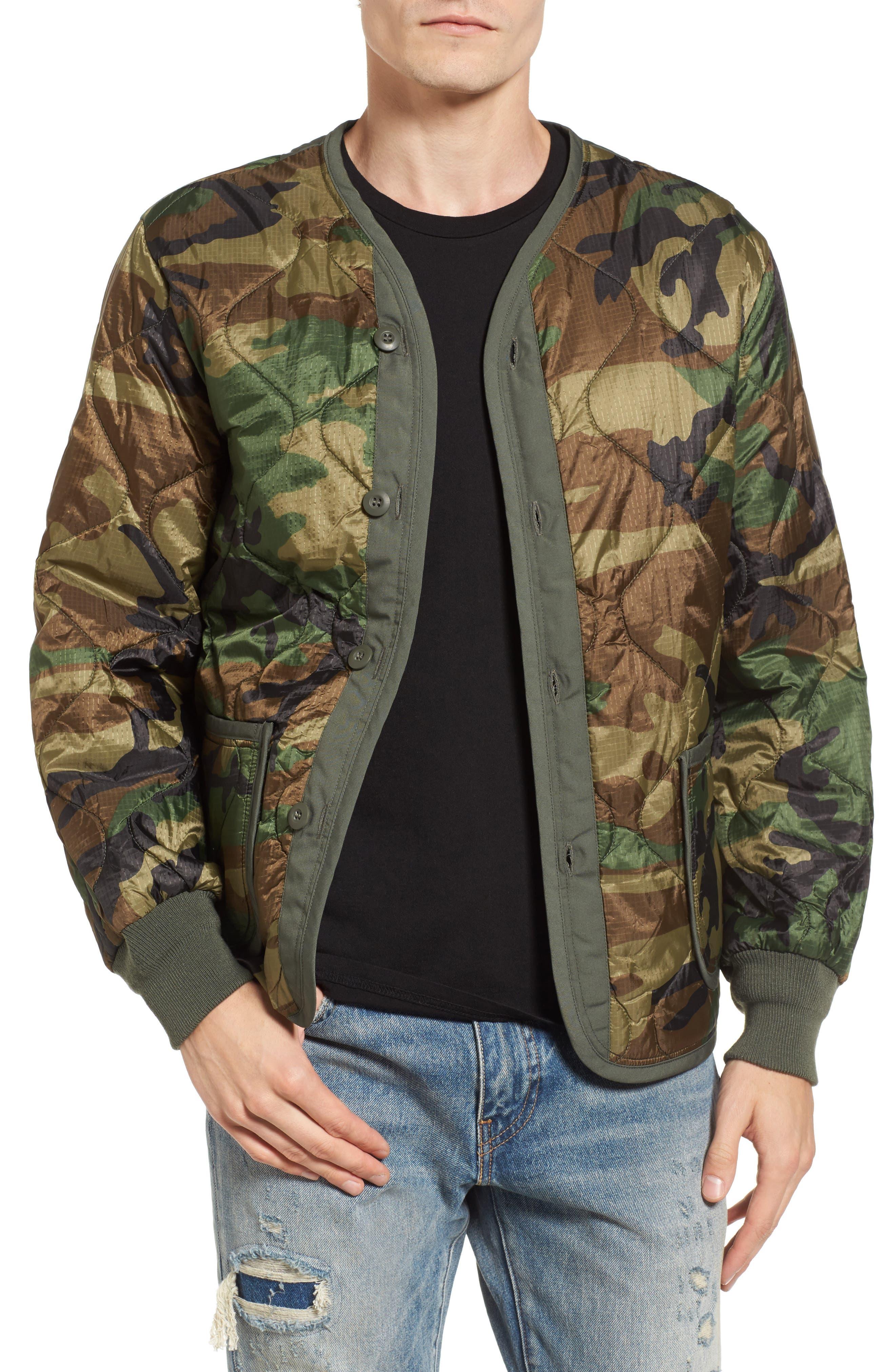 M-65 Defender Liner Jacket,                             Main thumbnail 1, color,                             Woodland Camo