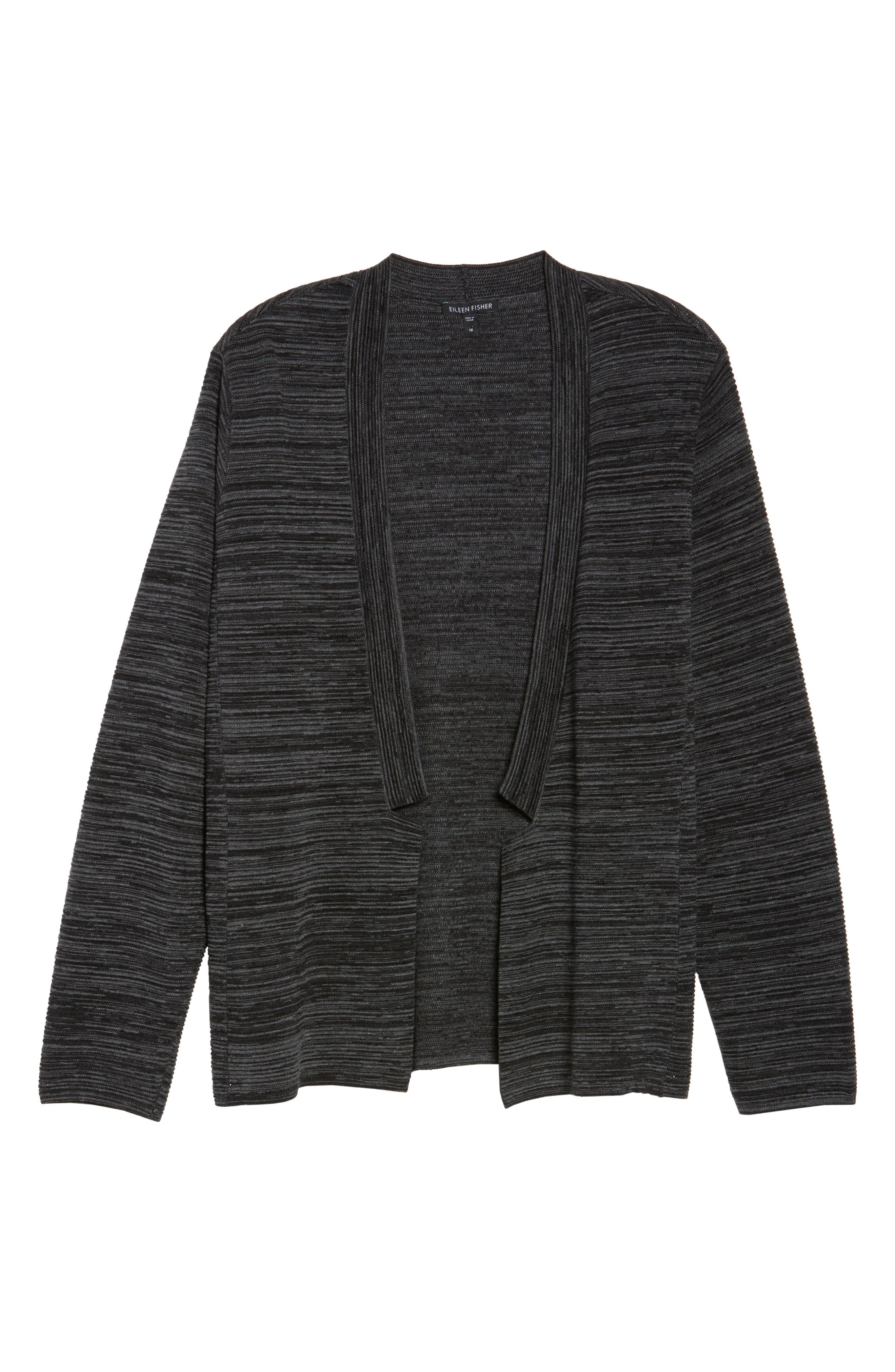 Tencel<sup>®</sup> & Organic Cotton Cardigan,                             Alternate thumbnail 5, color,                             Black