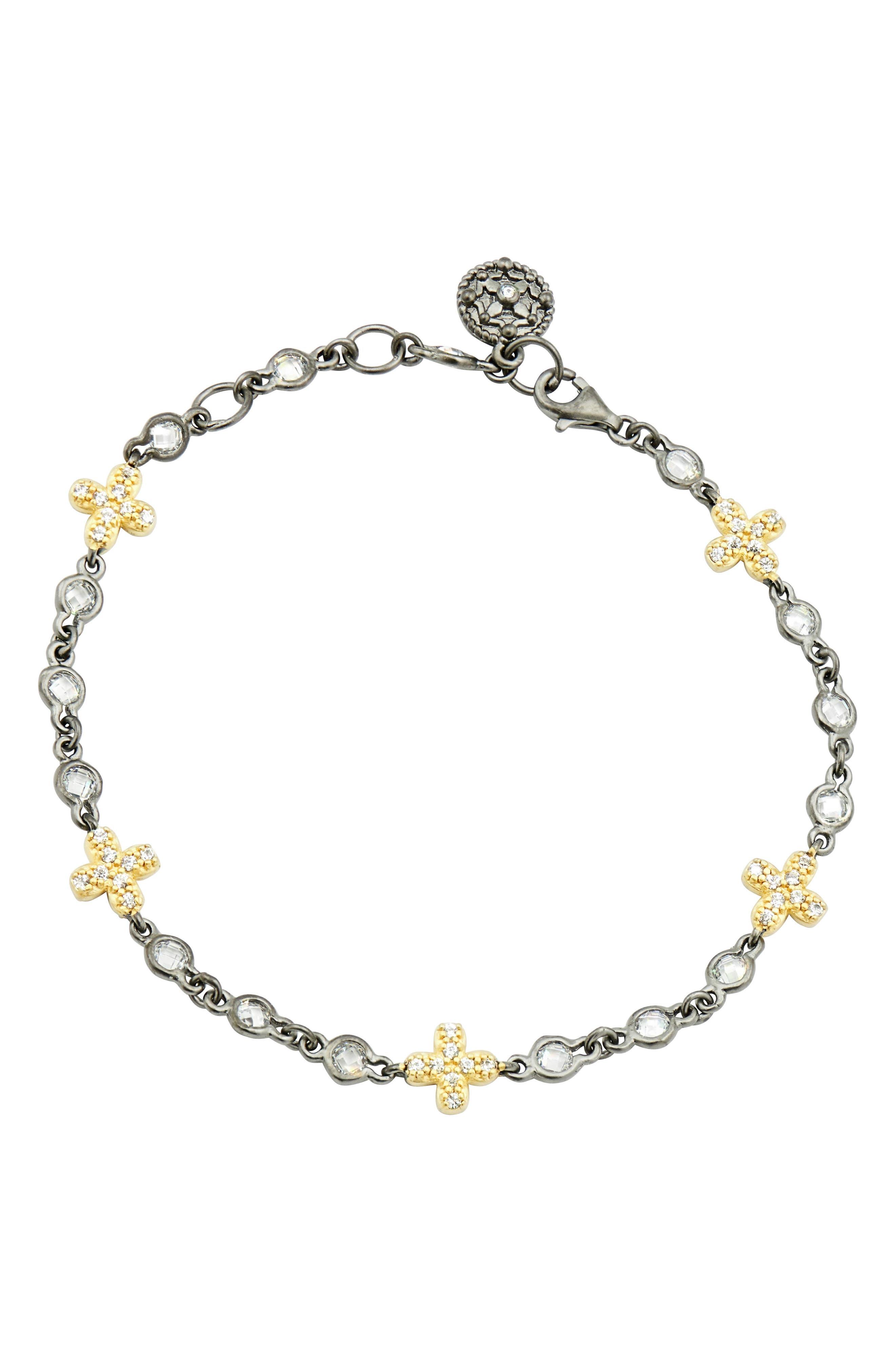 FREIDA ROTHMAN Cross Line Bracelet