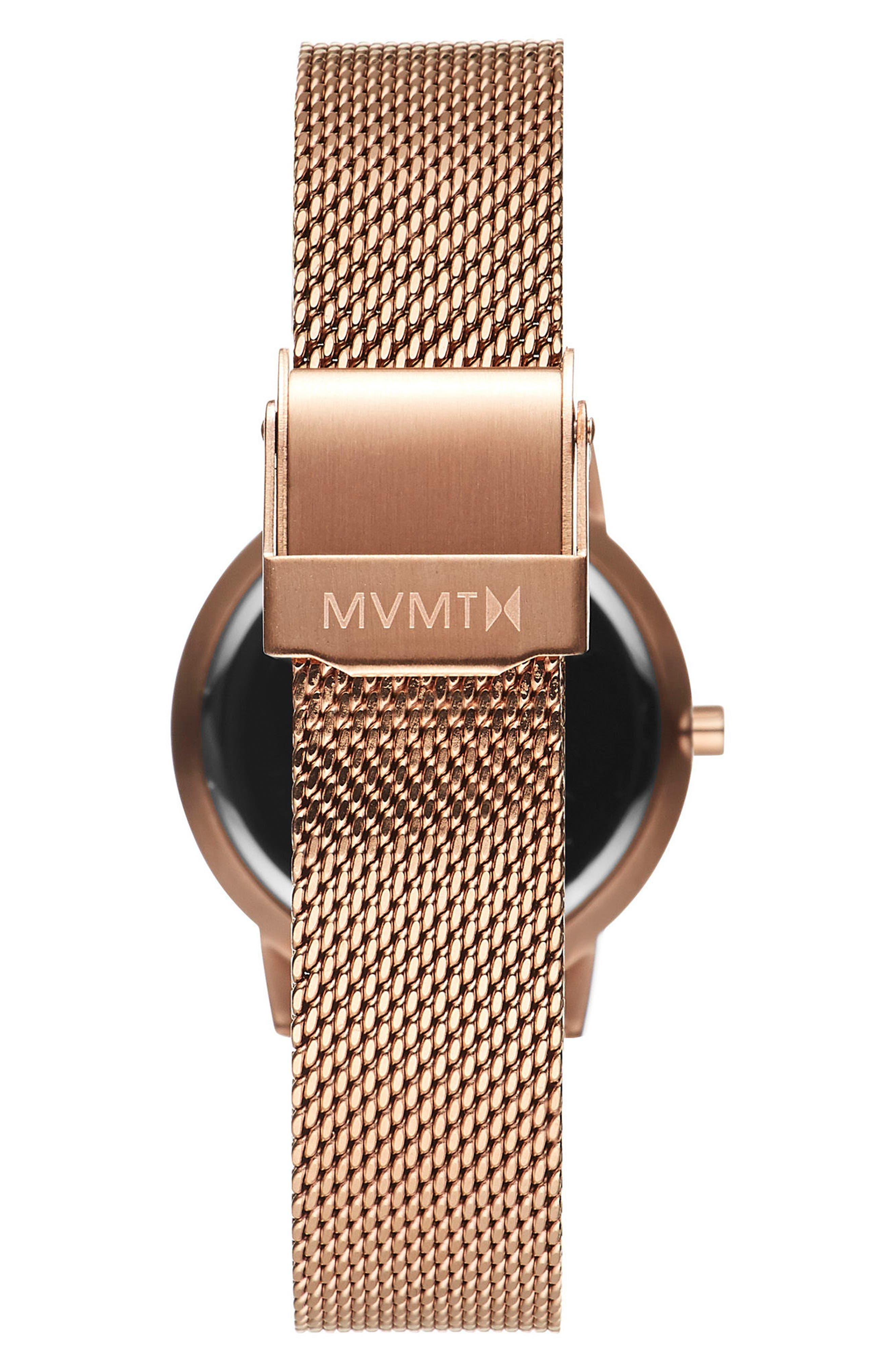 Alternate Image 4  - MVMT Avenue Lexington Mesh Strap Watch, 28mm