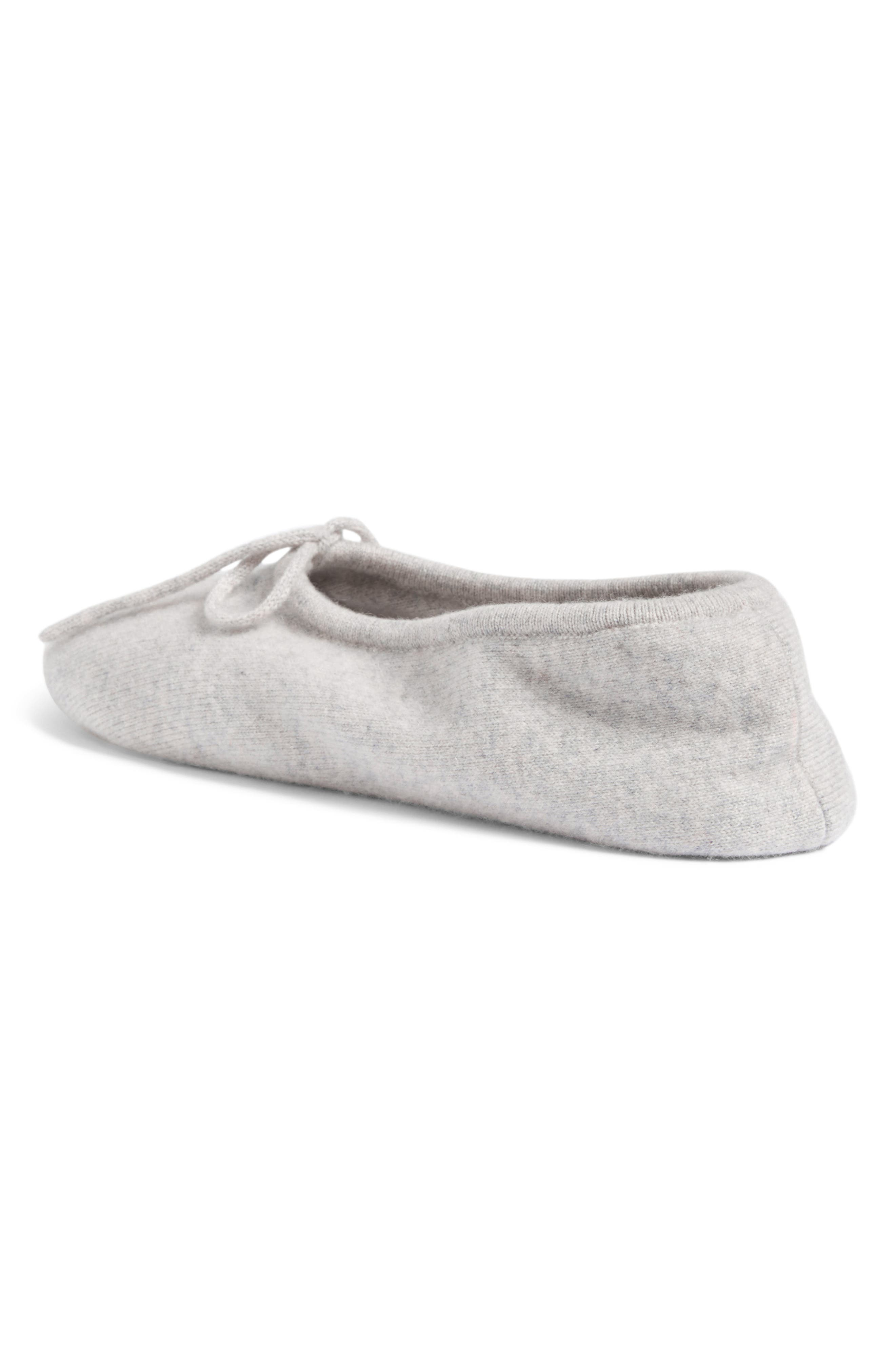Wool & Cashmere Ballerina Slippers,                             Alternate thumbnail 2, color,                             Grey Soft Heather