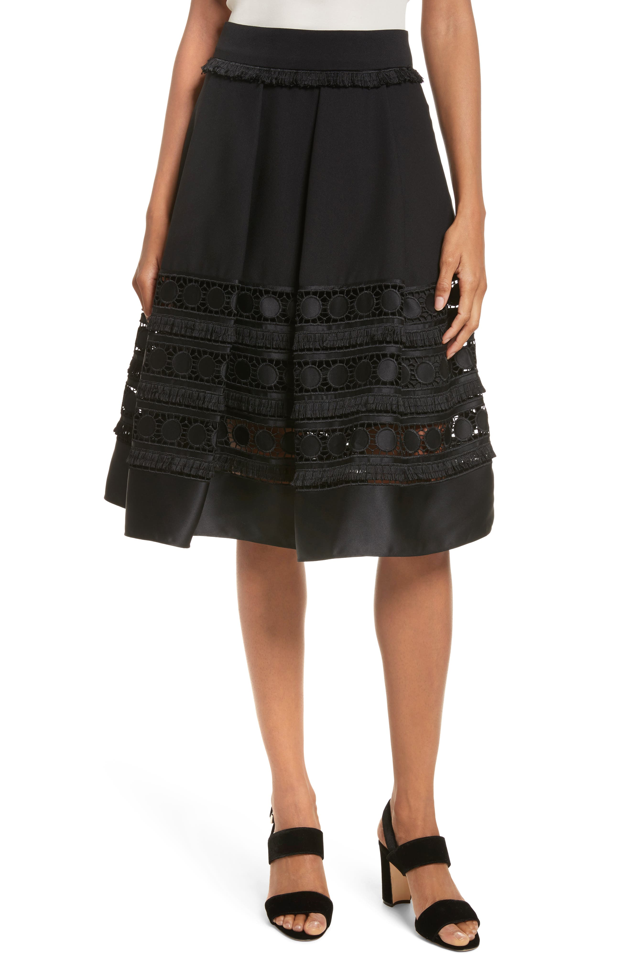 Laccey Full Skirt,                         Main,                         color, Black