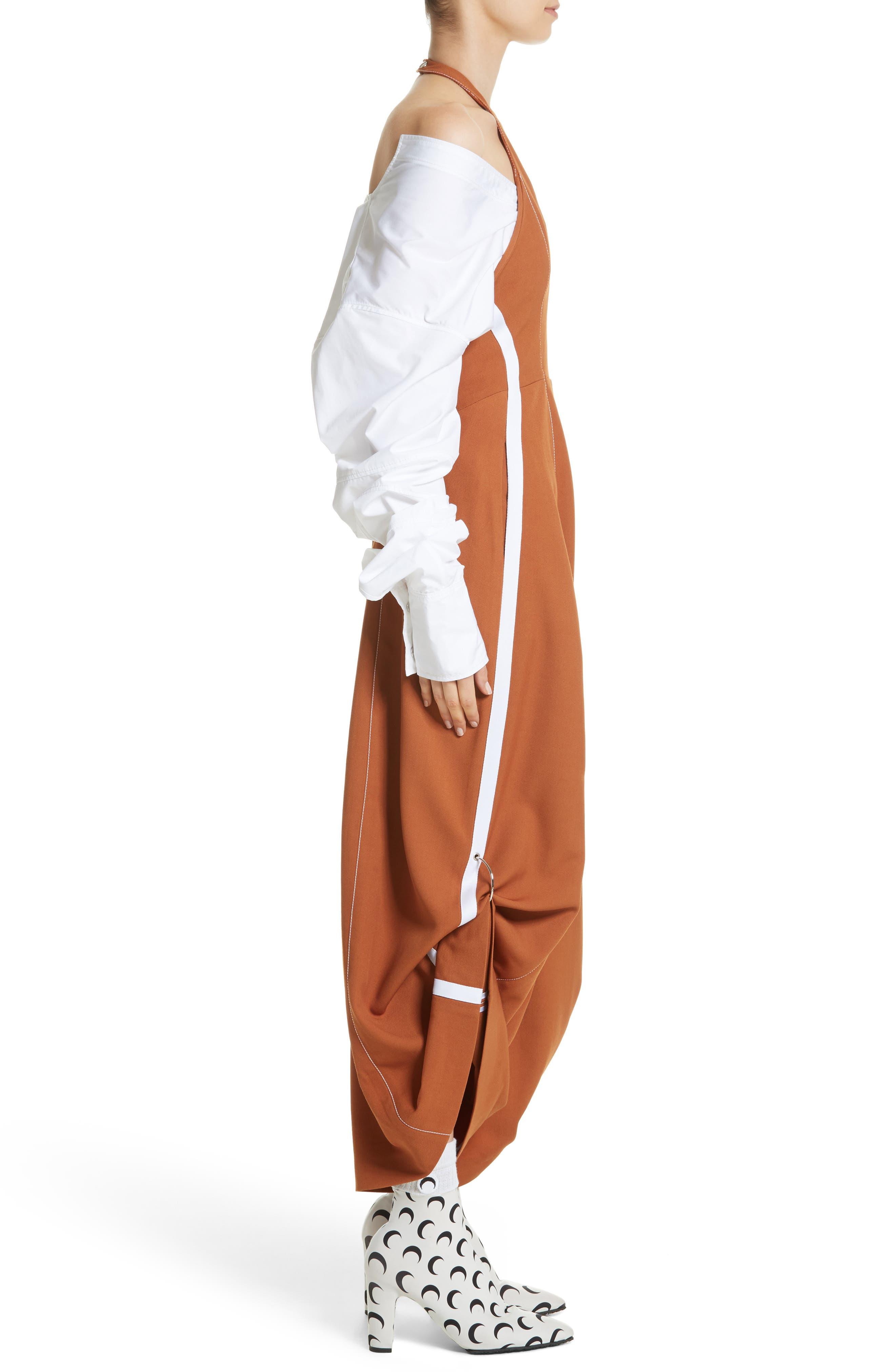 Wool Jumpsuit,                             Alternate thumbnail 3, color,                             Brown