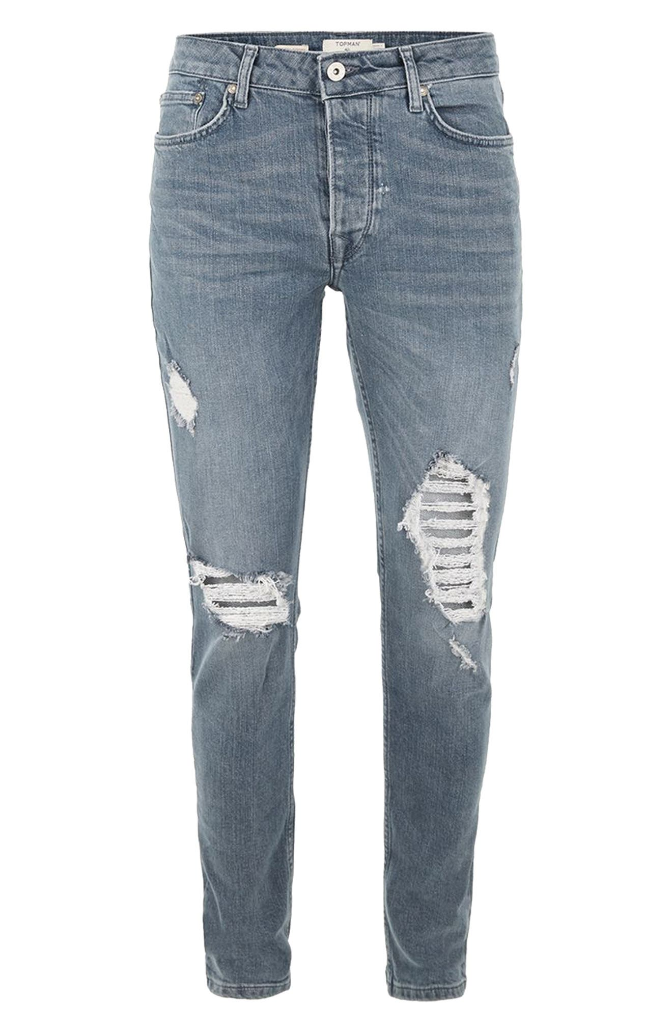 Alternate Image 4  - Topman Extreme Rip Stretch Jeans