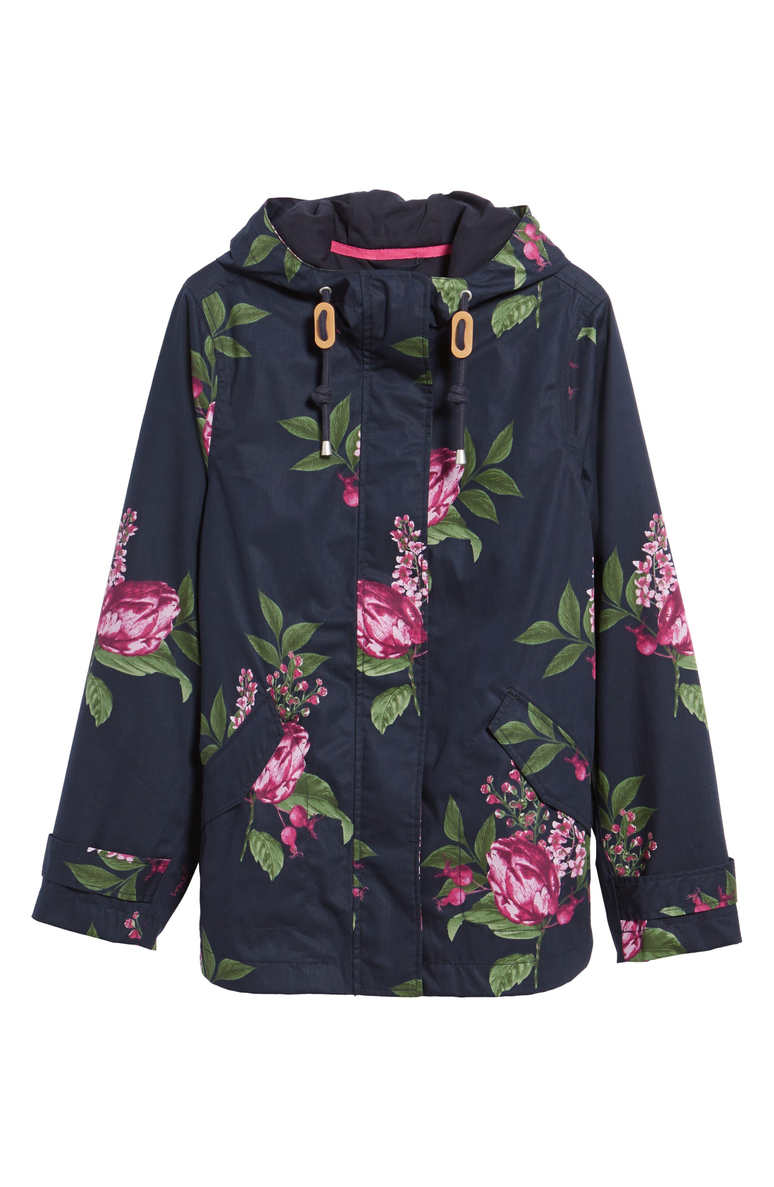 Alternate Image 6  - Joules Right as Rain Print Waterproof Hooded Jacket
