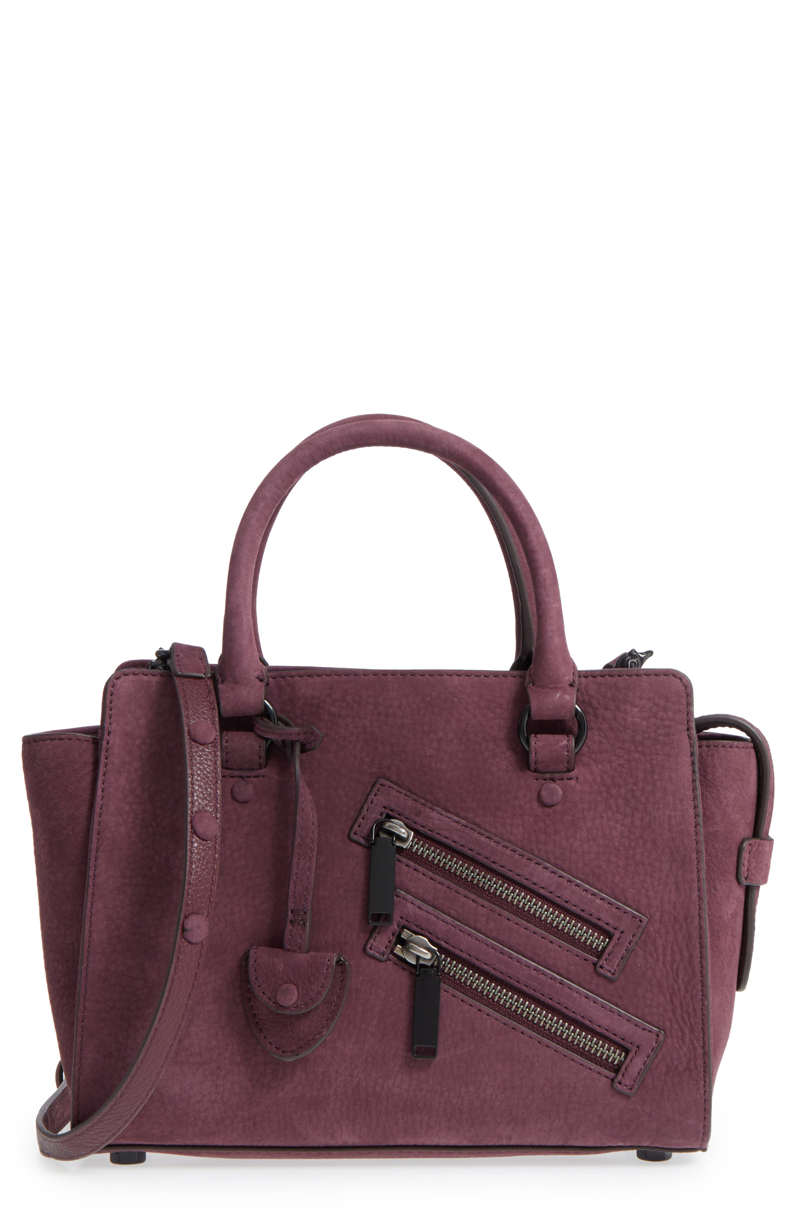 Small Jamie Leather Satchel,                         Main,                         color, Dark Cherry