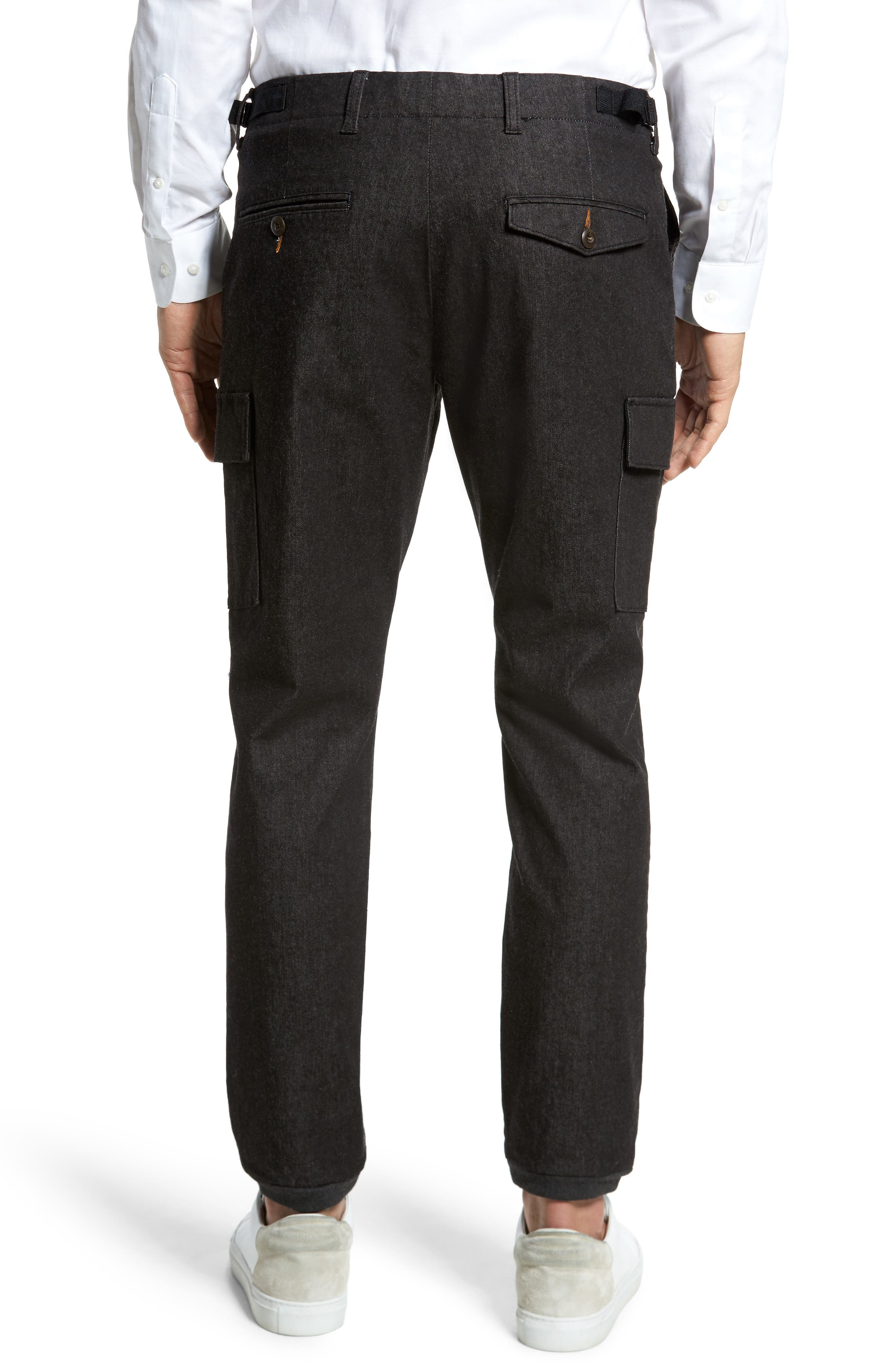 Brushed Stretch Twill Pants,                             Alternate thumbnail 2, color,                             Charcoal Mel