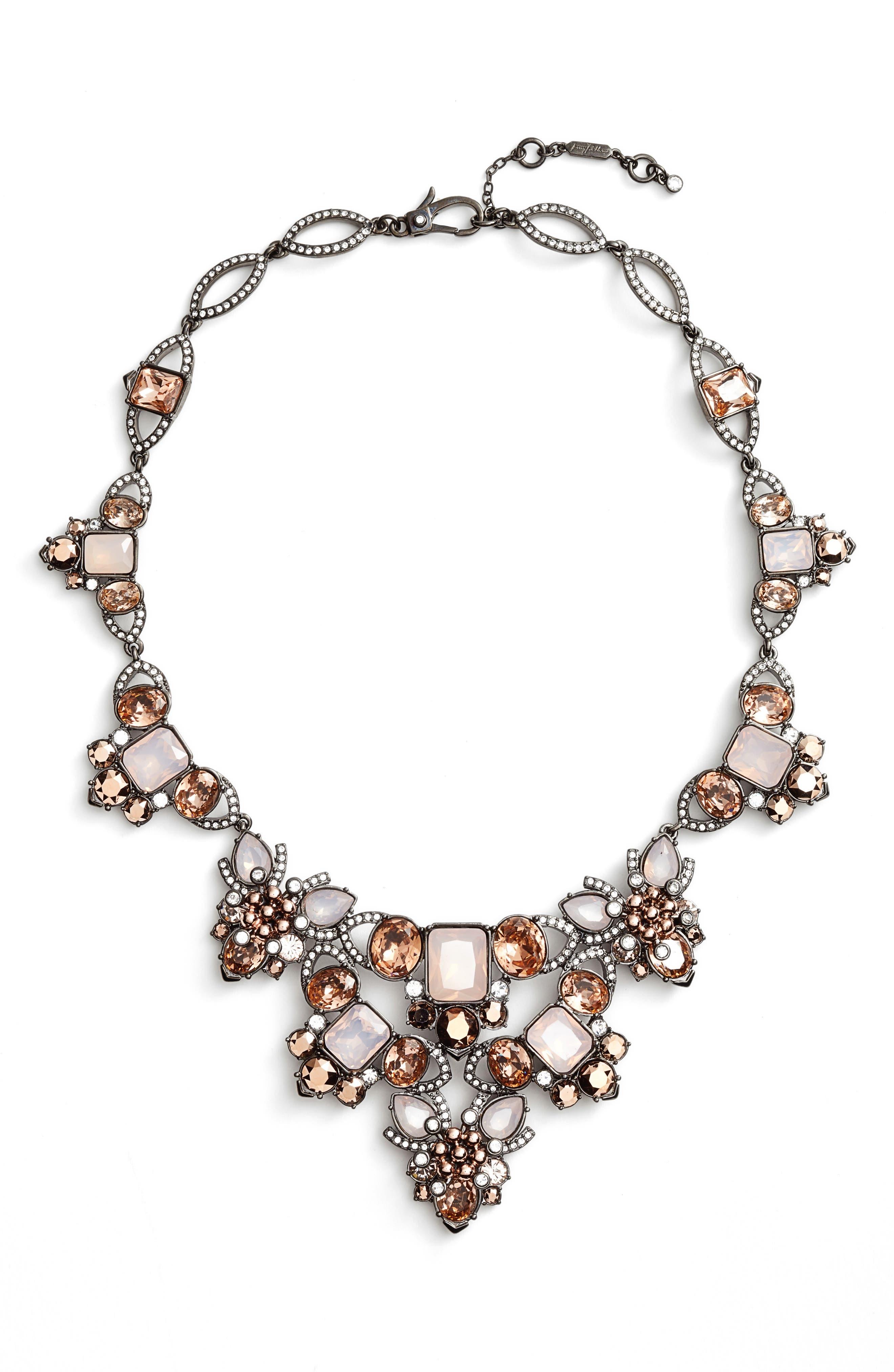 Crystal Drama Collar Necklace,                         Main,                         color, Blush/ Crystal