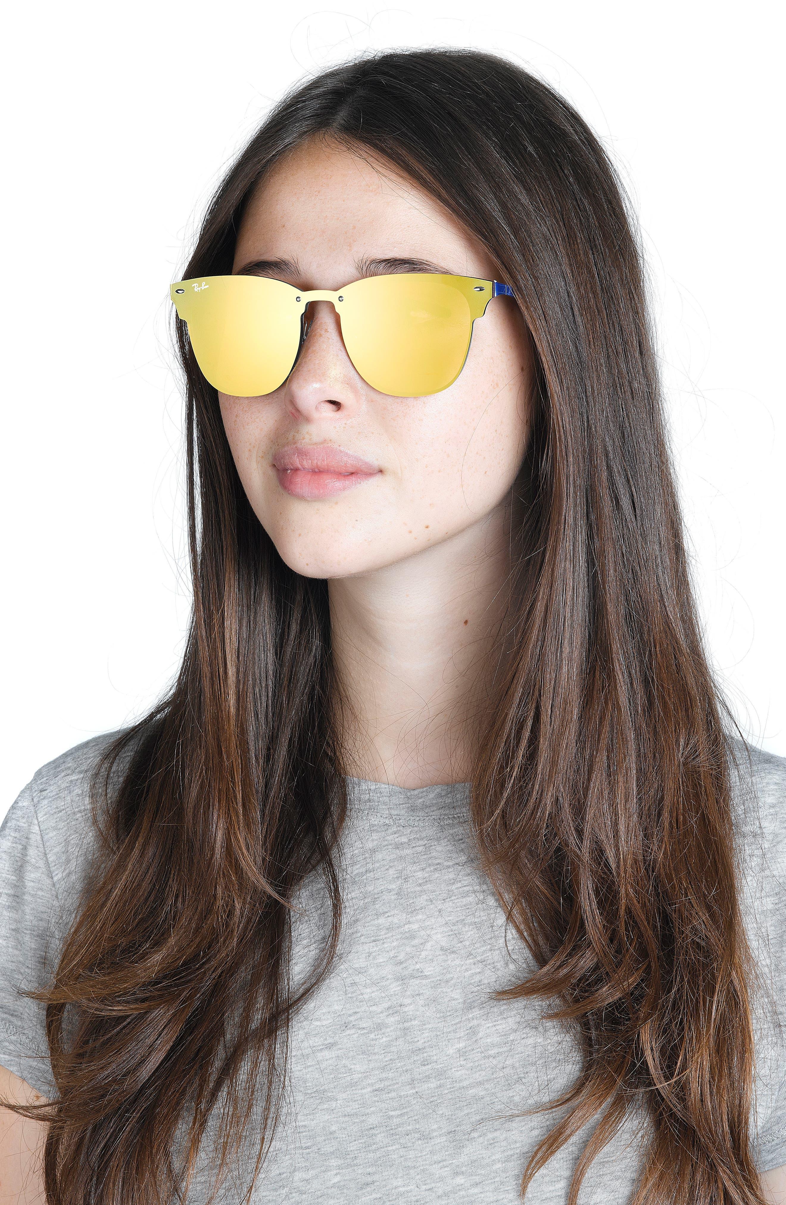 Alternate Image 2  - Ray-Ban 52mm Mirrored Sunglasses