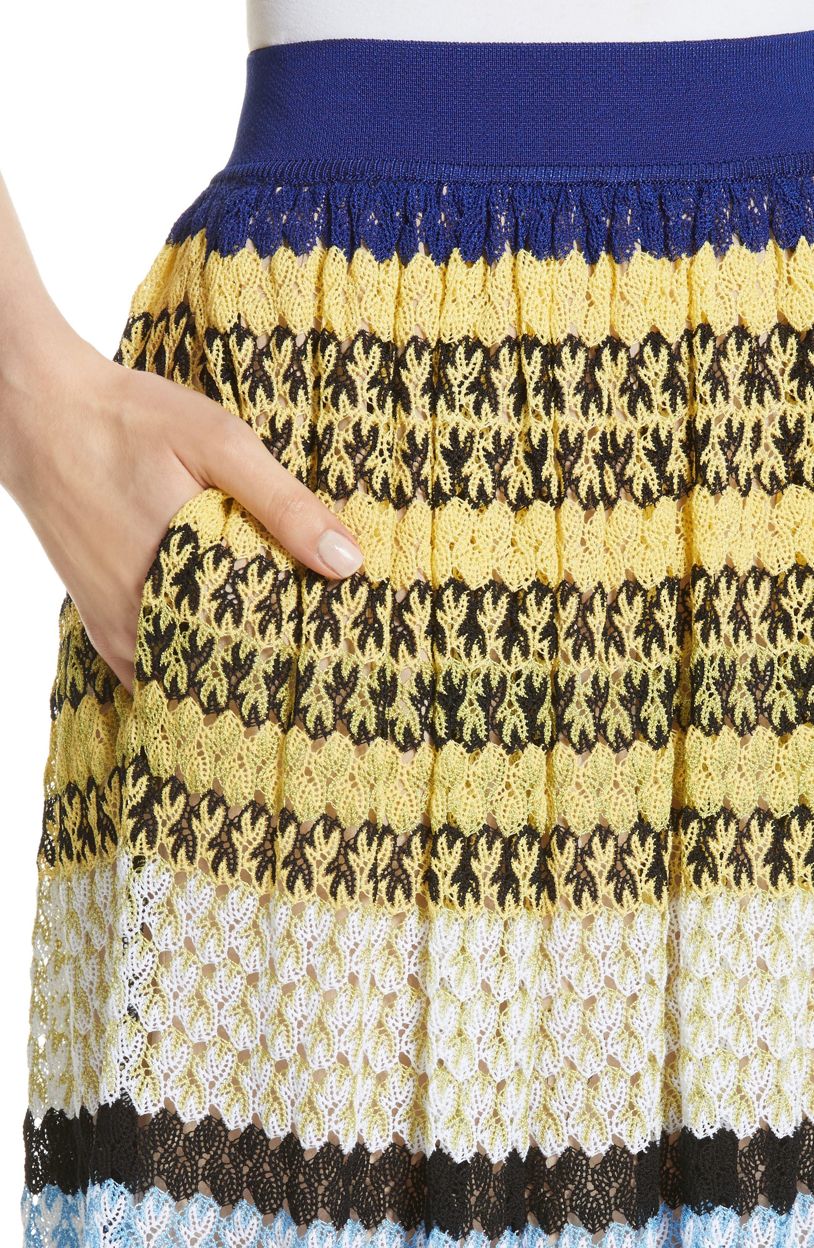 Stripe Knit Midi Skirt,                             Alternate thumbnail 4, color,                             Multi