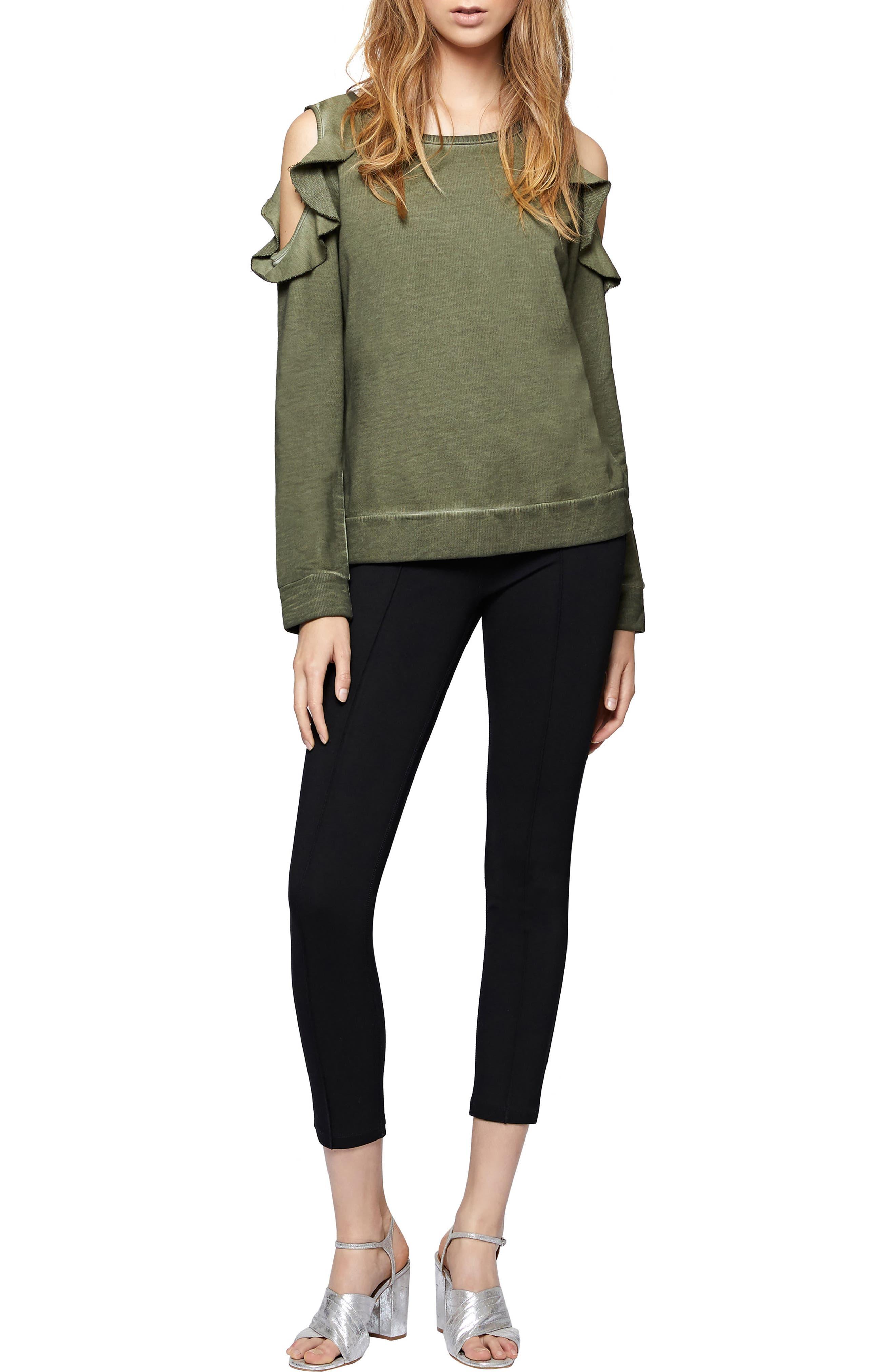 Alternate Image 3  - Sanctuary Ashley Bare Ruffle Sweatshirt