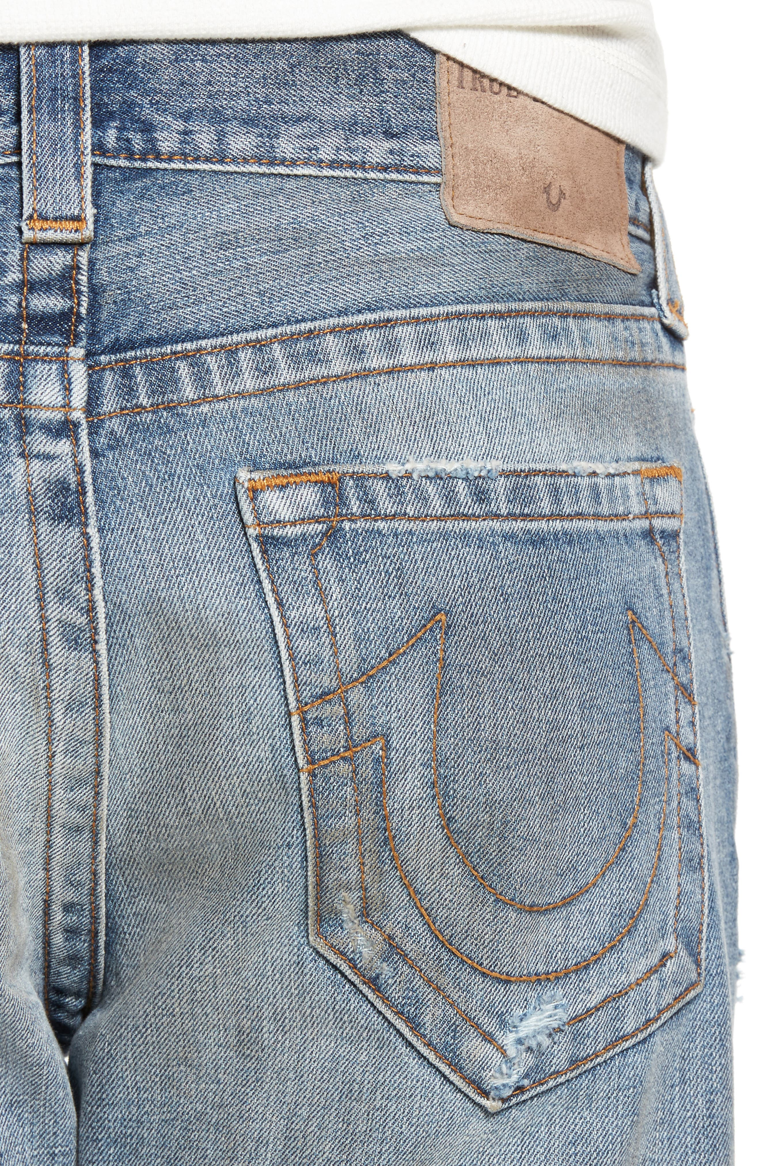 Alternate Image 4  - True Religion Brand Jeans Logan Slim Straight Fit Jeans (Mended Street Brawl)