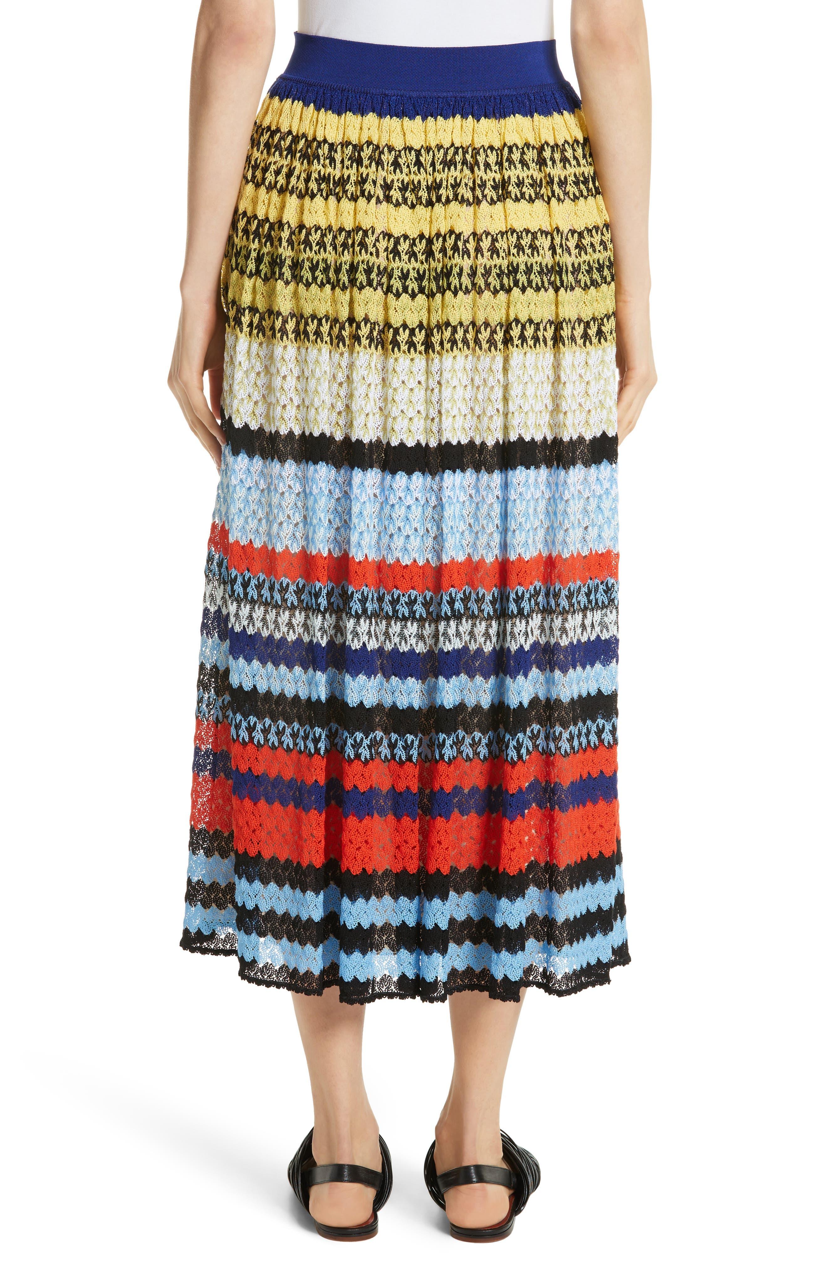 Stripe Knit Midi Skirt,                             Alternate thumbnail 2, color,                             Multi