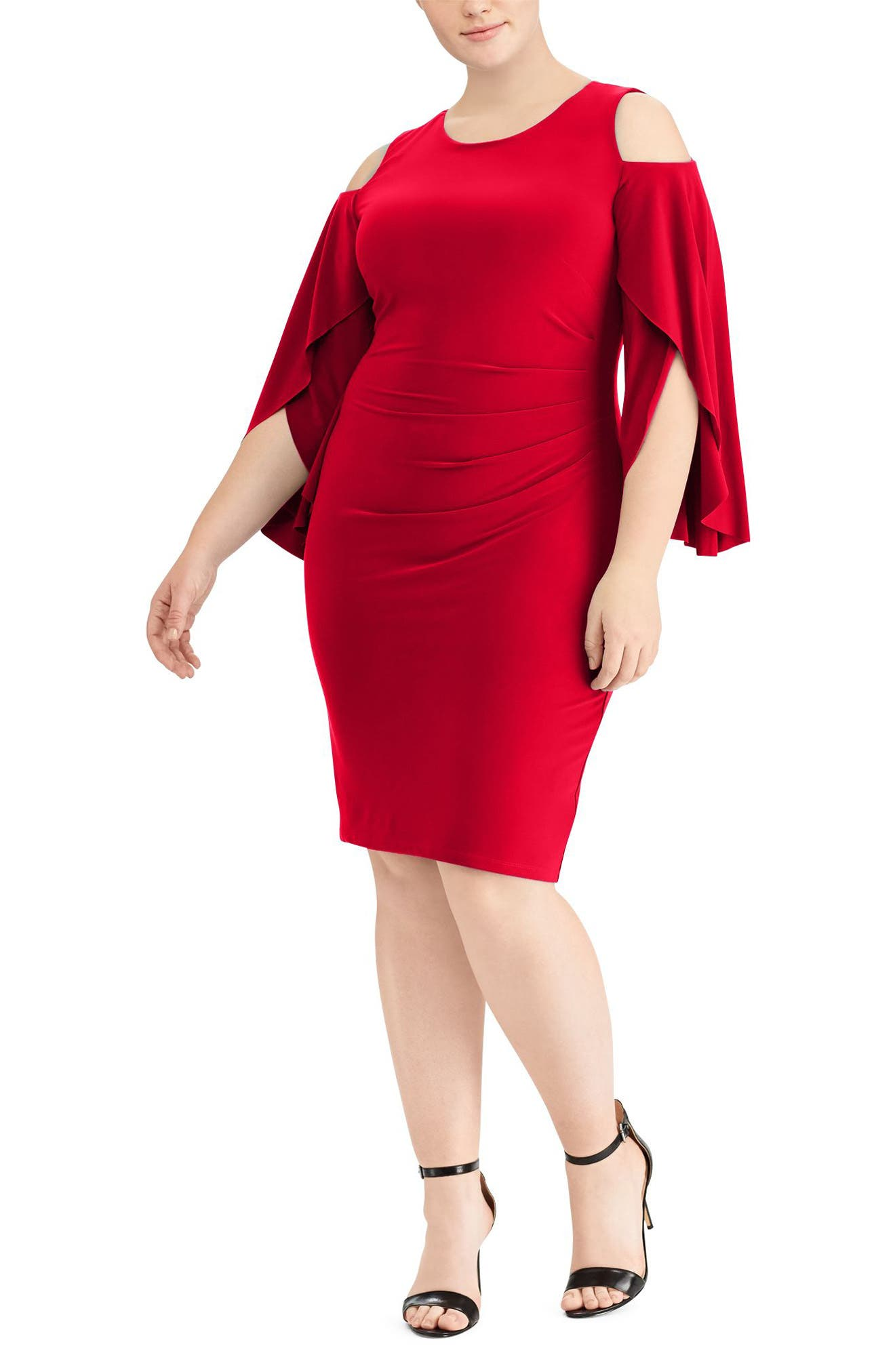 Debbie Dress,                             Main thumbnail 1, color,                             Parlor Red