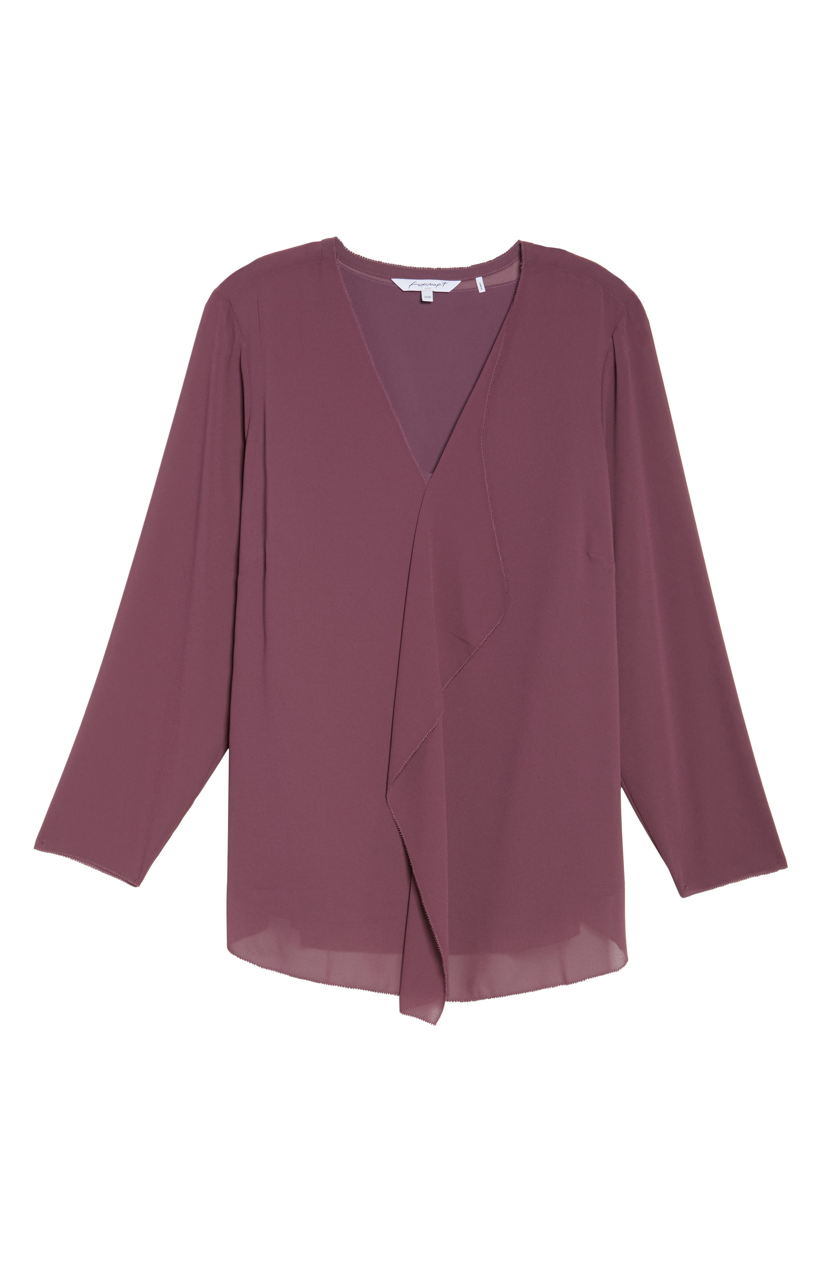 Alternate Image 6  - Foxcroft Ashleigh Chiffon Top (Plus Size)