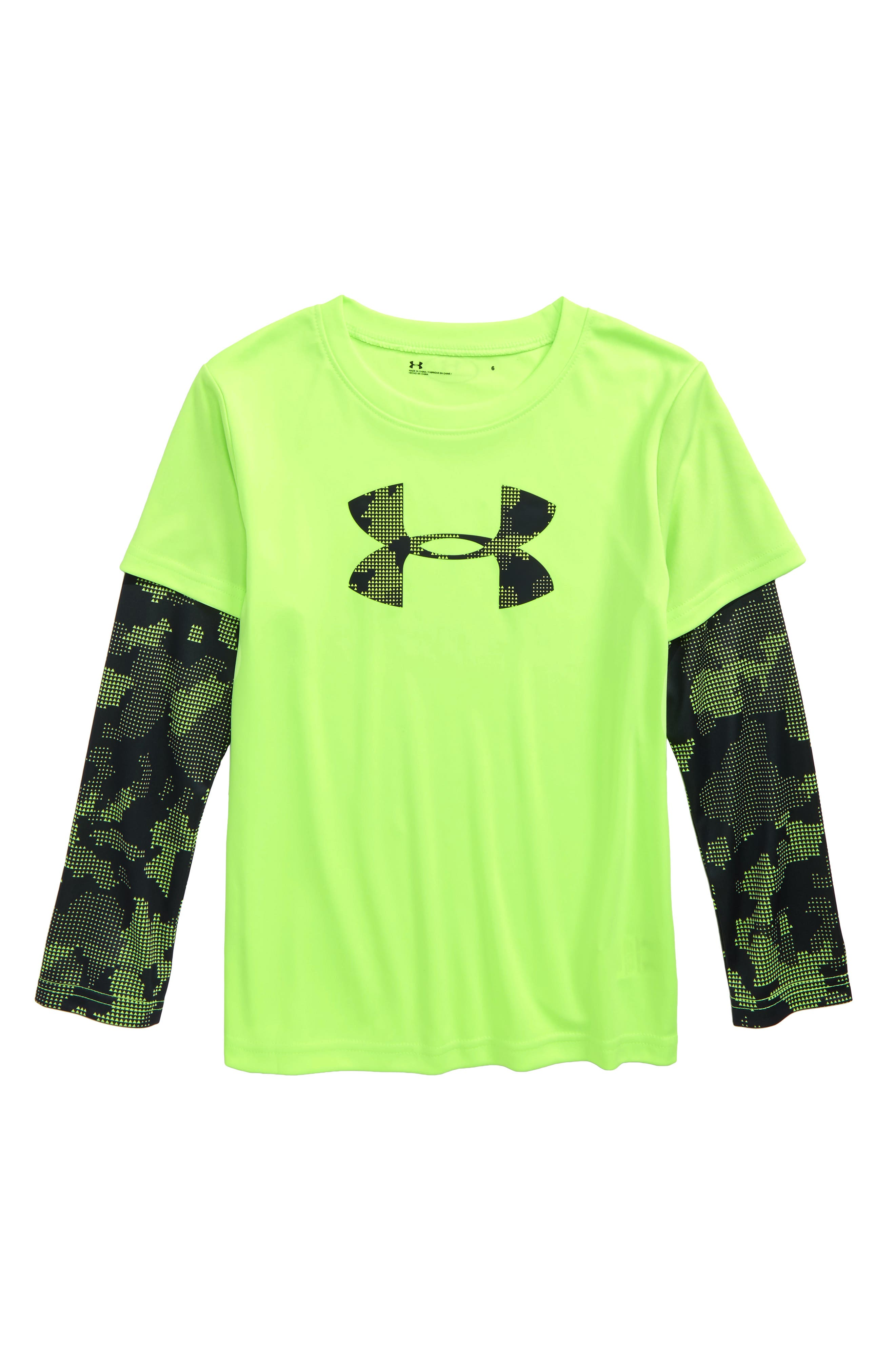 Alternate Image 1 Selected - Under Armour Utility Layered Long Sleeve T-Shirt (Toddler Boys & Little Boys)