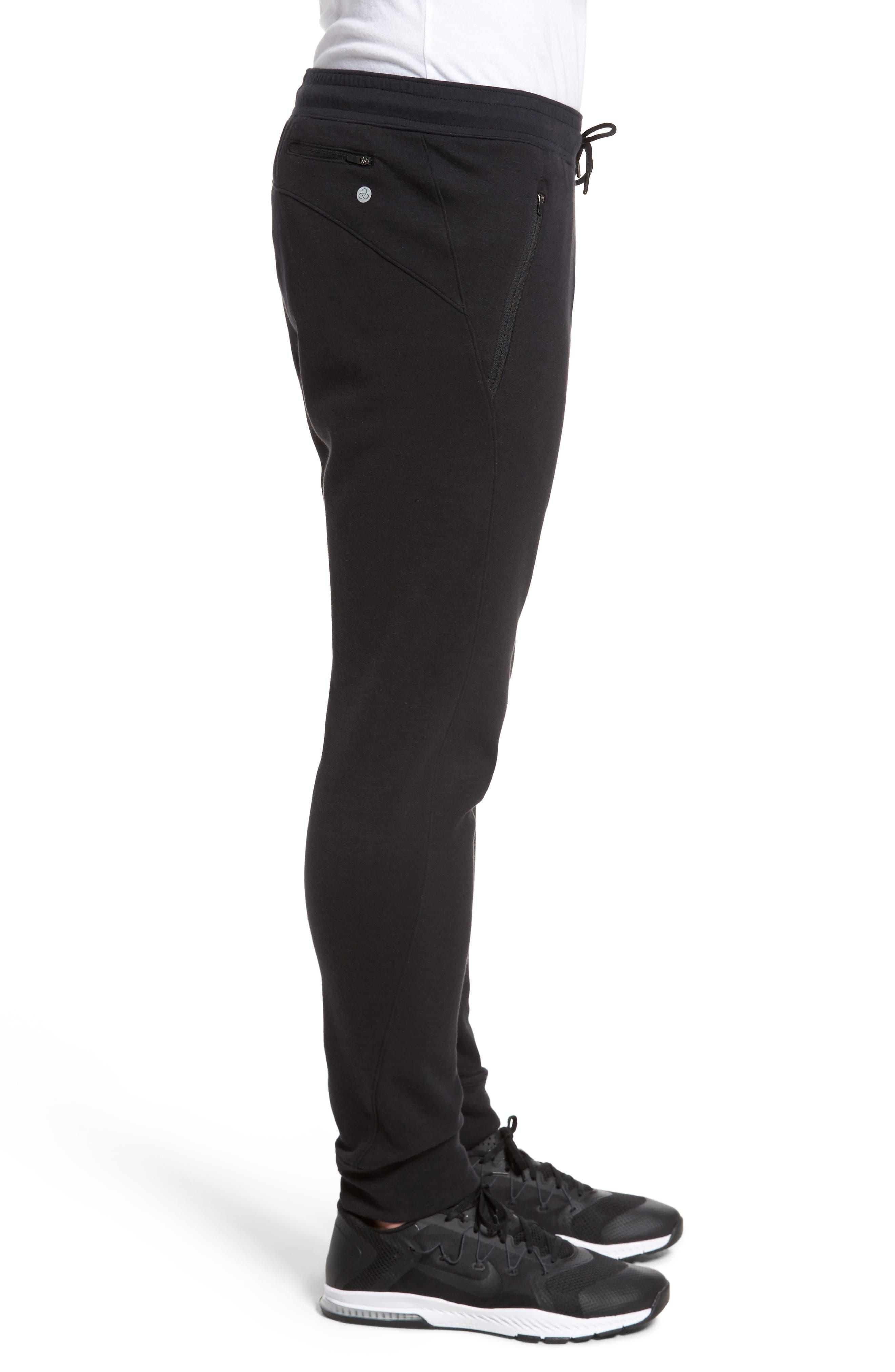 Magnetite Fleece Jogger Pants,                             Alternate thumbnail 3, color,                             Black Oxide Melange