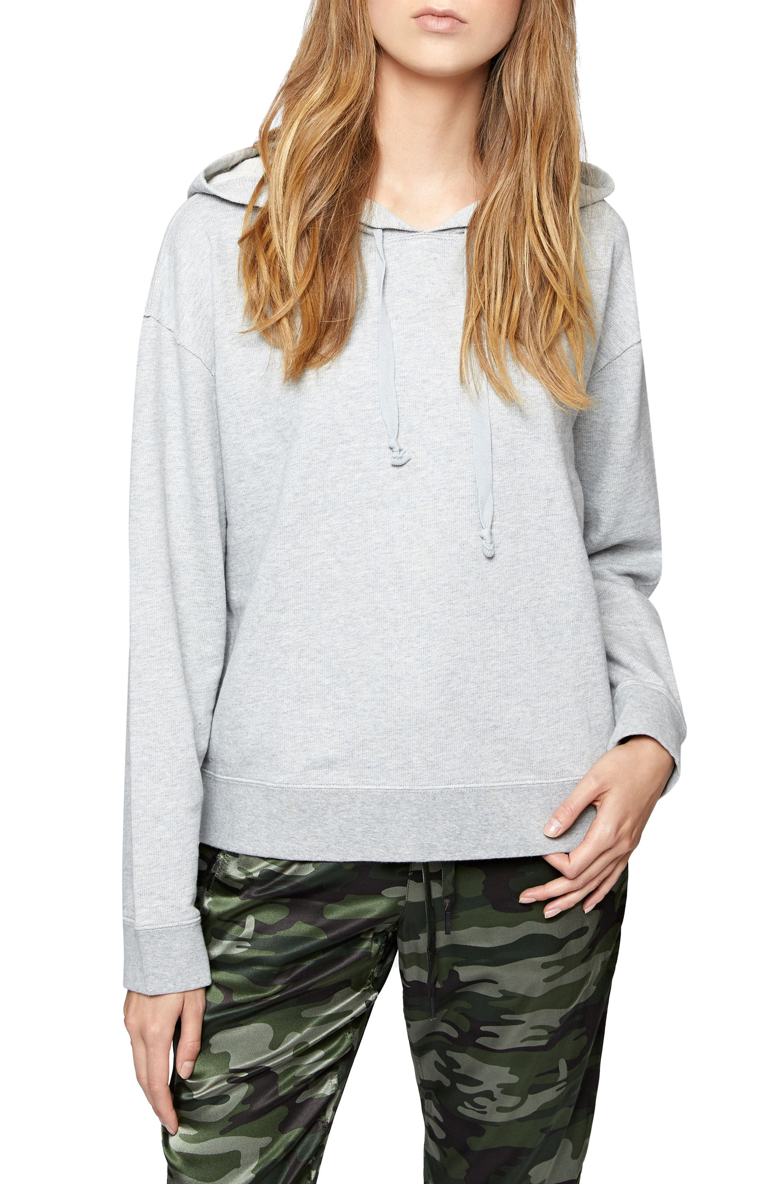 Venice Hooded Sweatshirt,                         Main,                         color, Heather Grey