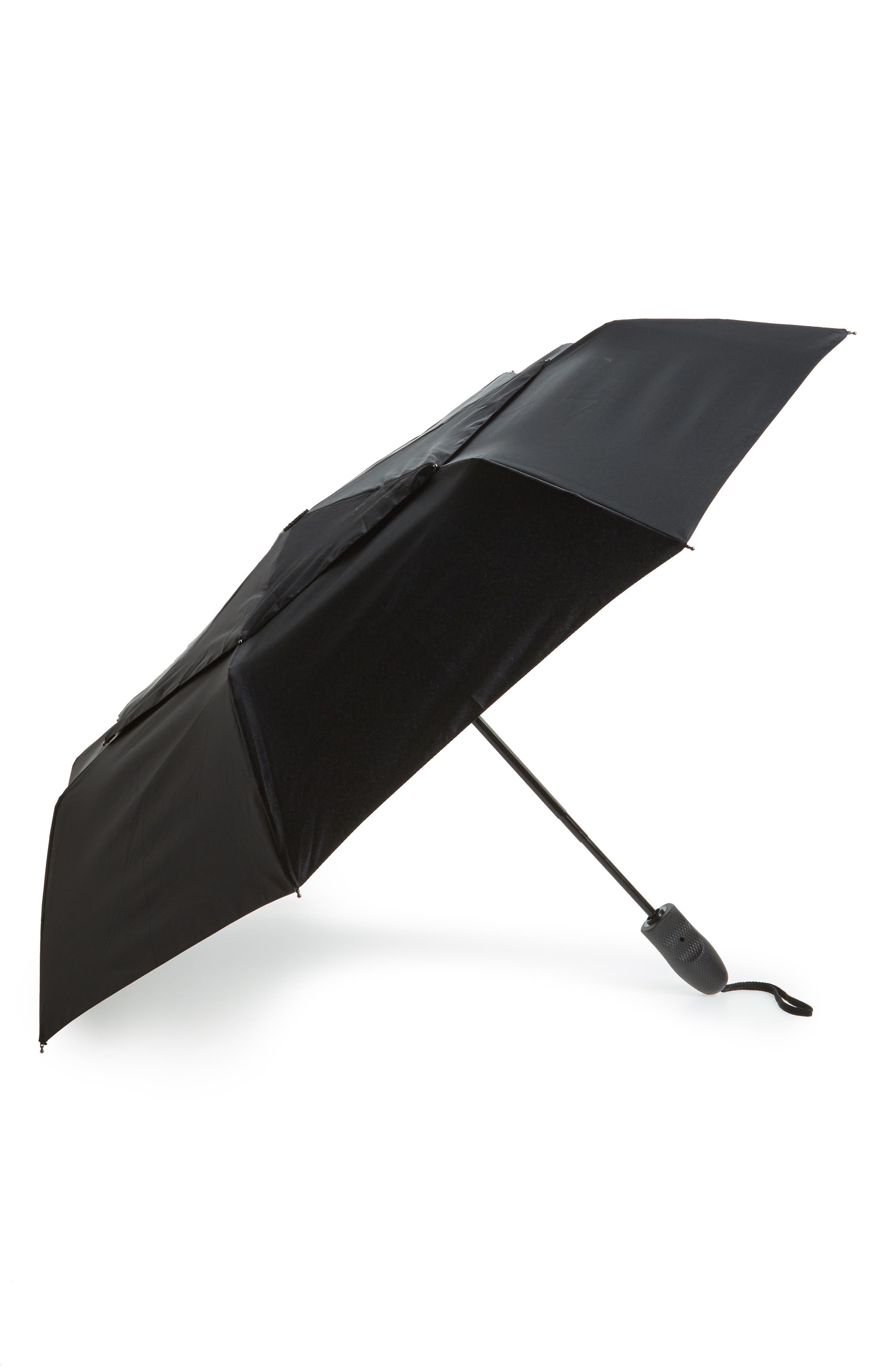 Compact Telescoping Umbrella,                         Main,                         color, Black