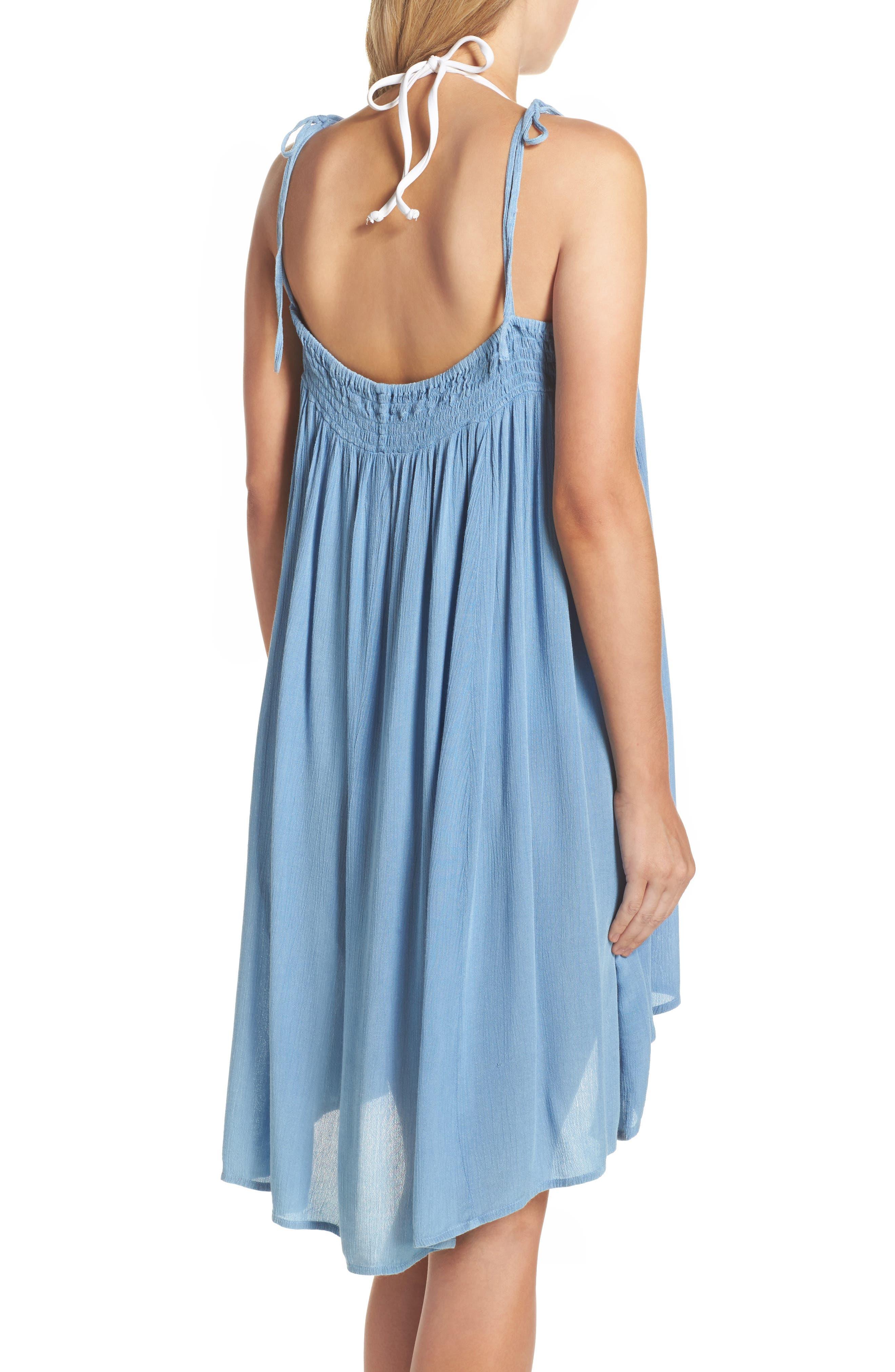 Oliva Cover-Up Dress,                             Alternate thumbnail 2, color,                             Denim