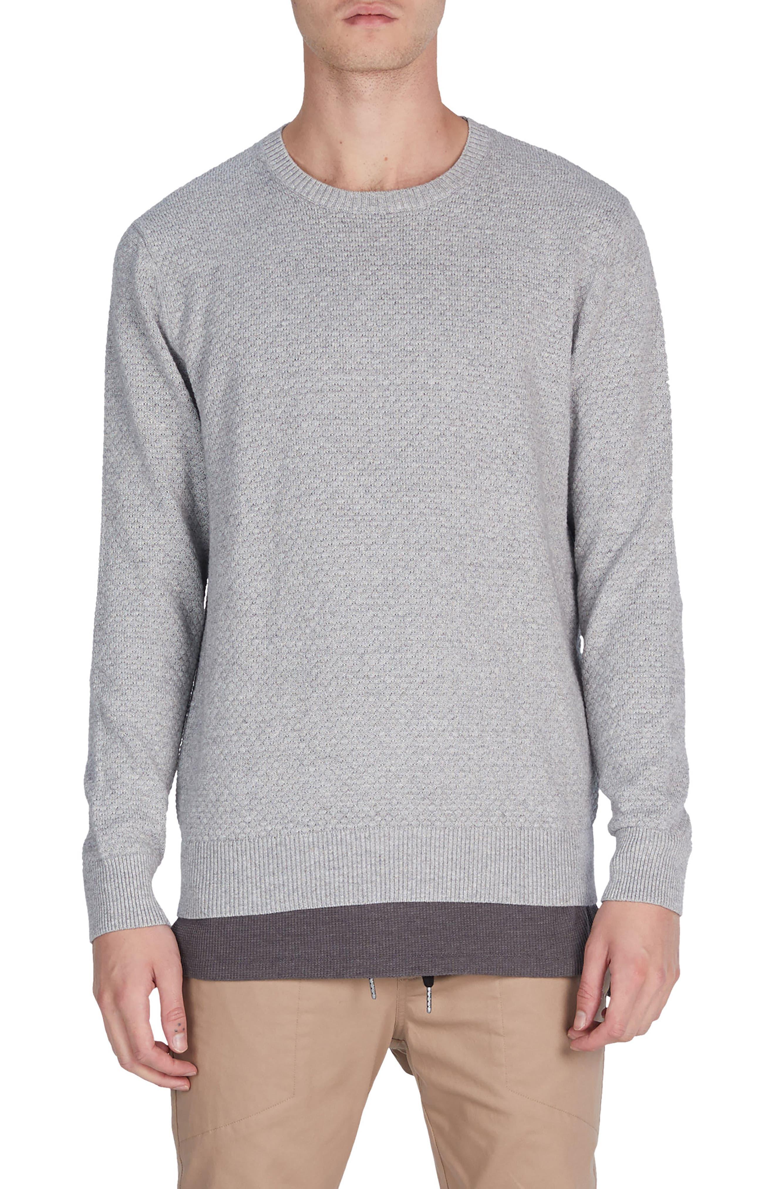 Grip Crewneck Sweater,                         Main,                         color, Grey Marle