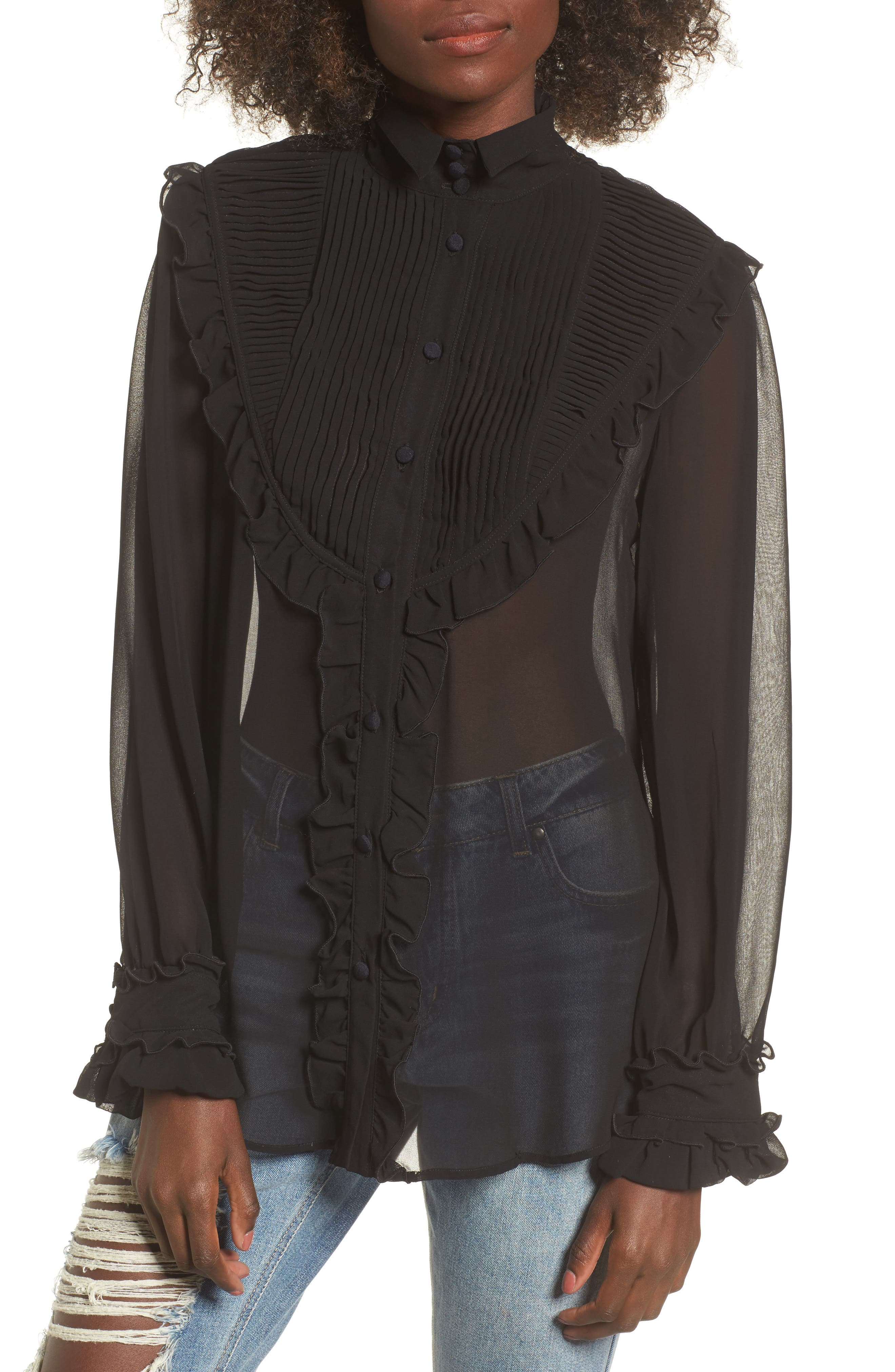 For Love & Lemons Vivi Pintuck Blouse