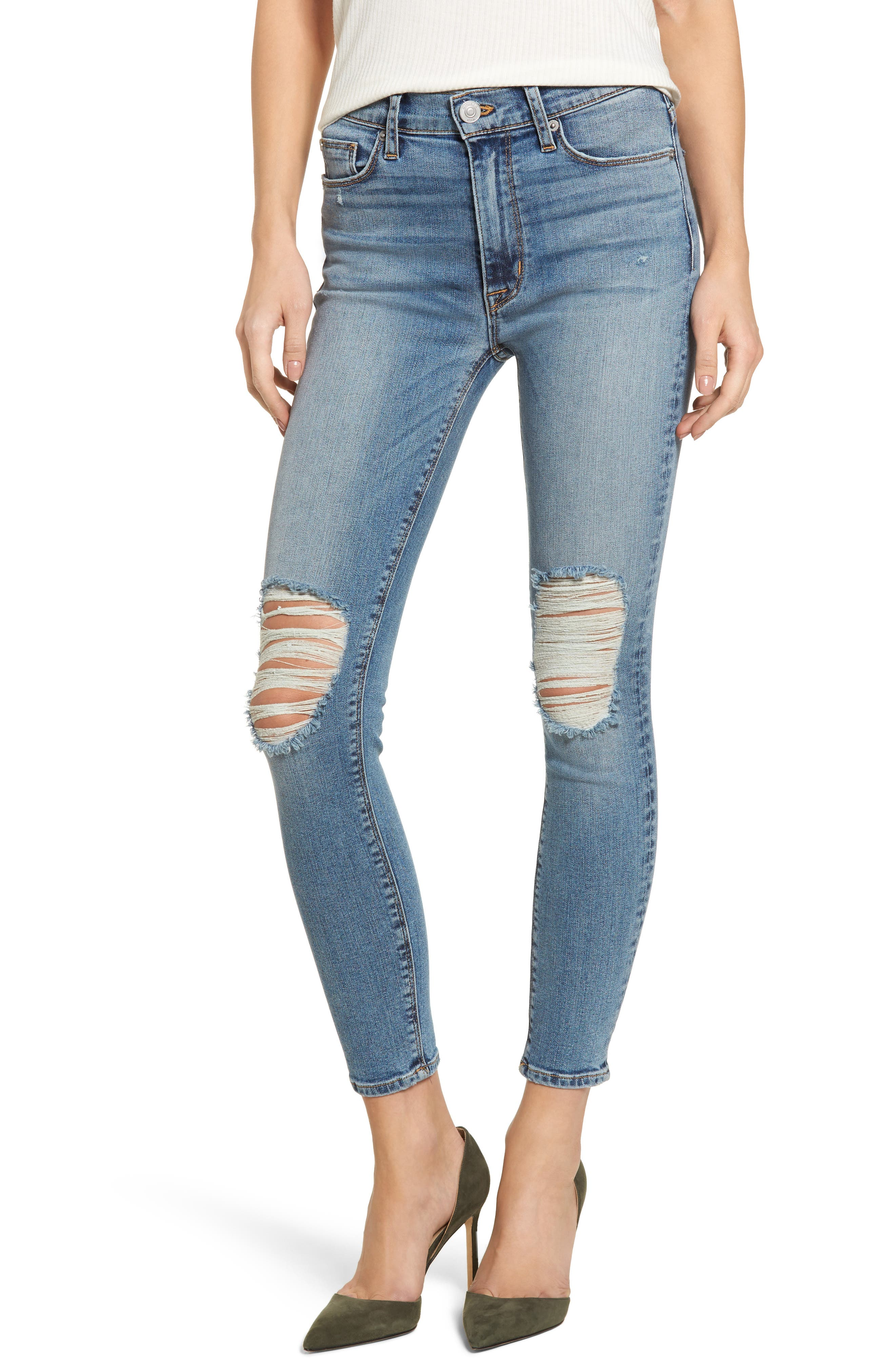 Barbara High Waist Ankle Skinny Jeans,                         Main,                         color, Confection