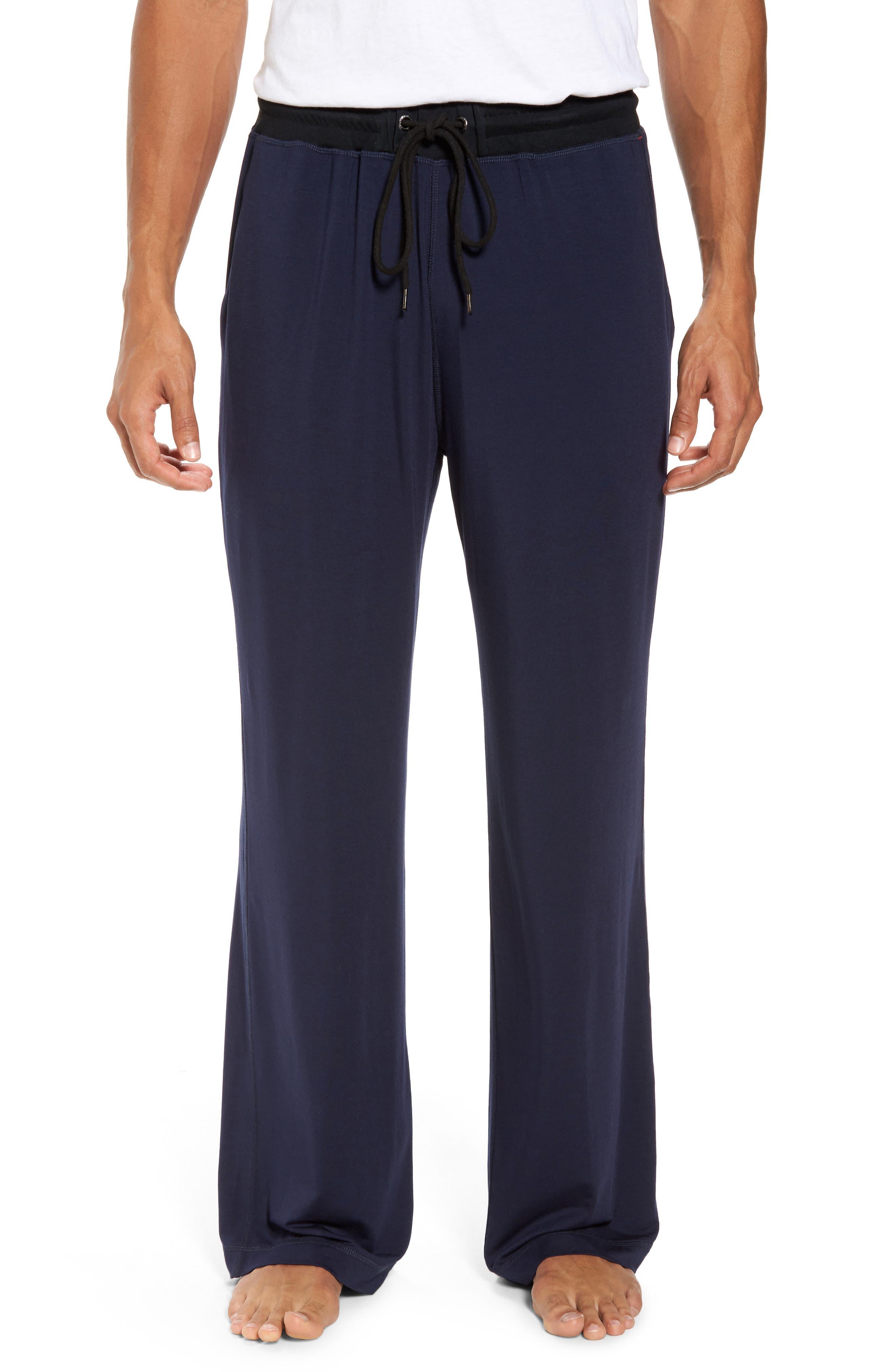 Modal & Silk Lounge Pants,                             Main thumbnail 1, color,                             Ink
