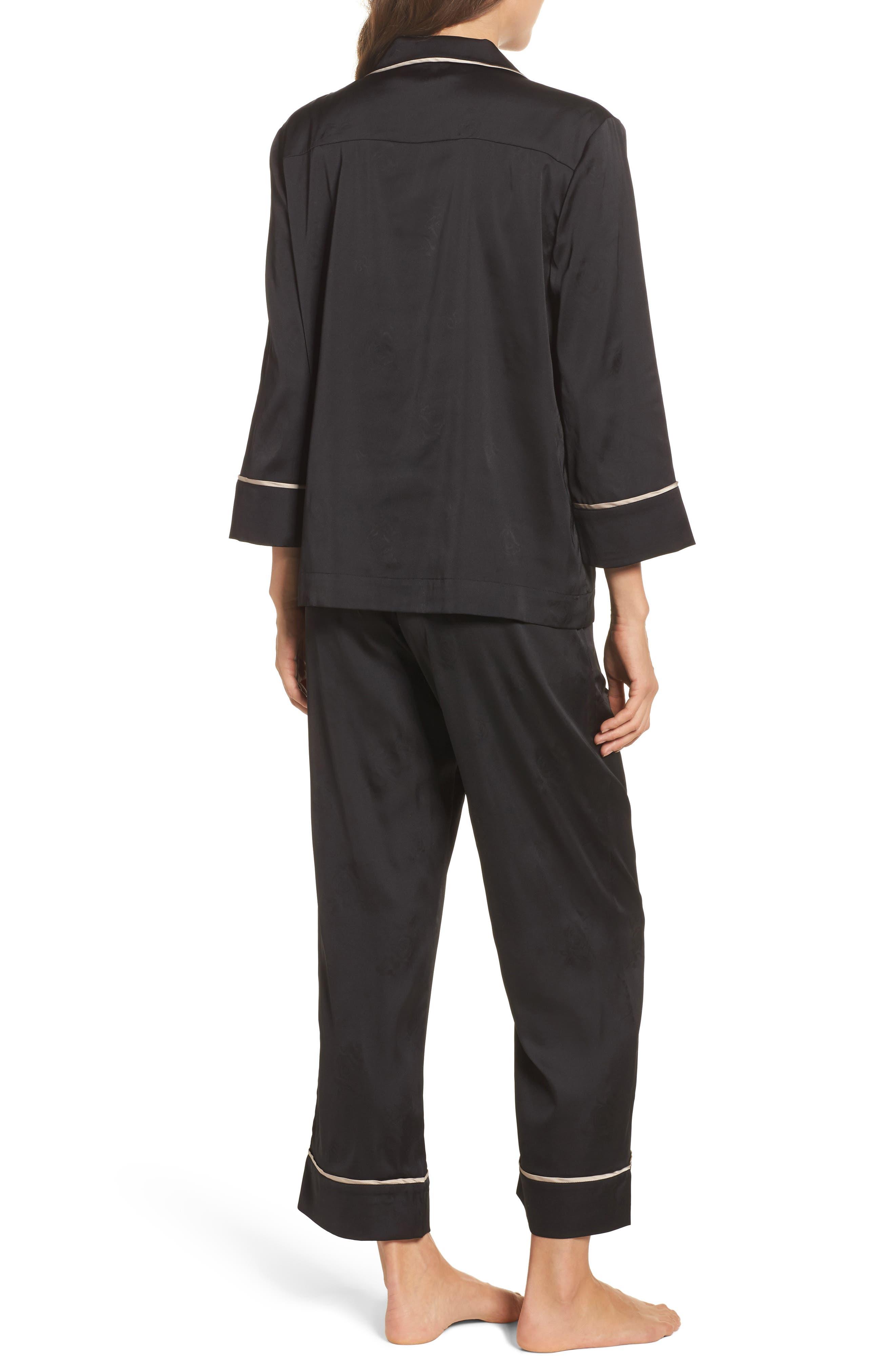 Crop Pajamas,                             Alternate thumbnail 2, color,                             Onyx