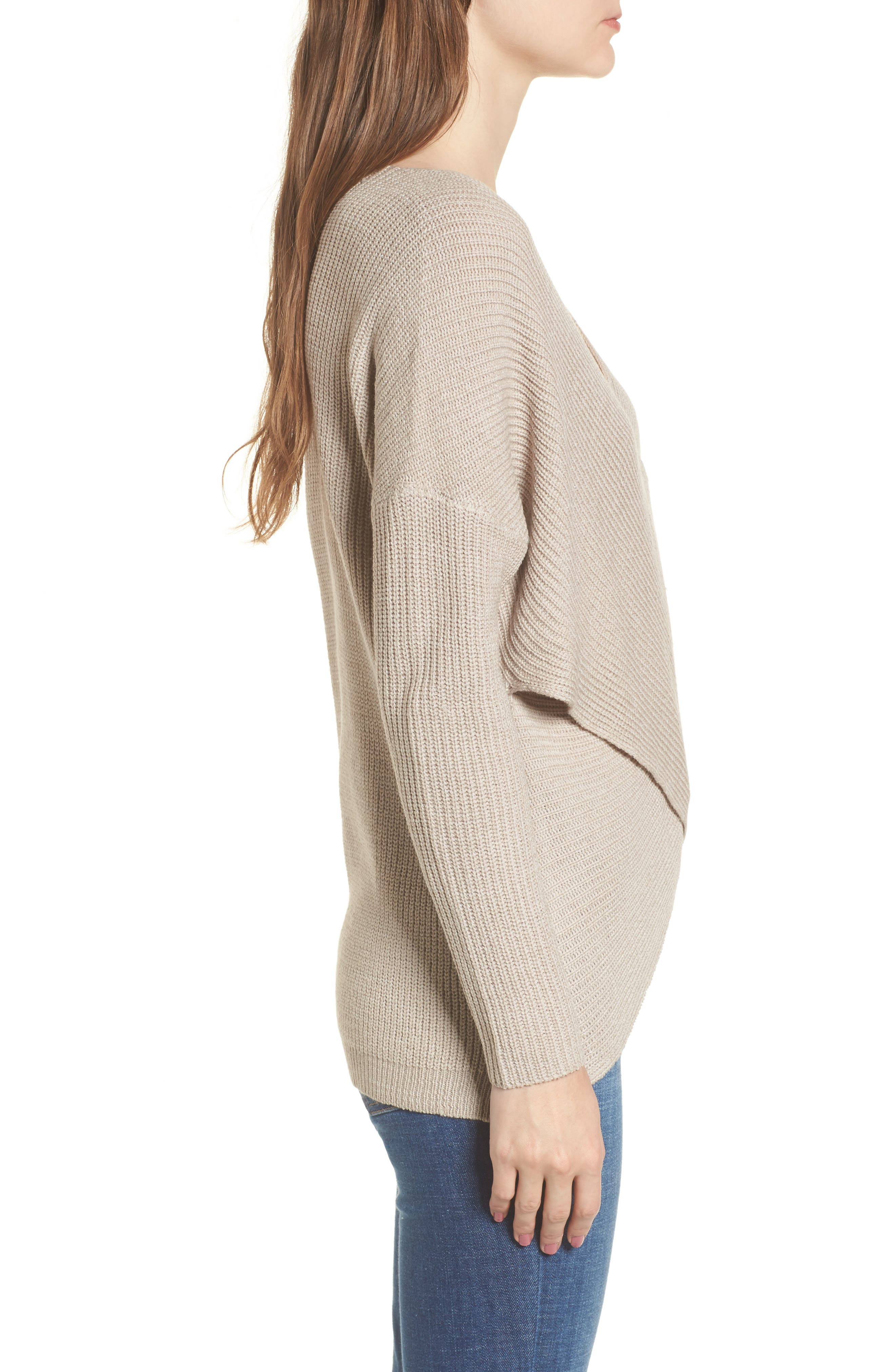 Alternate Image 3  - ASTR the Label Wrap Front Sweater