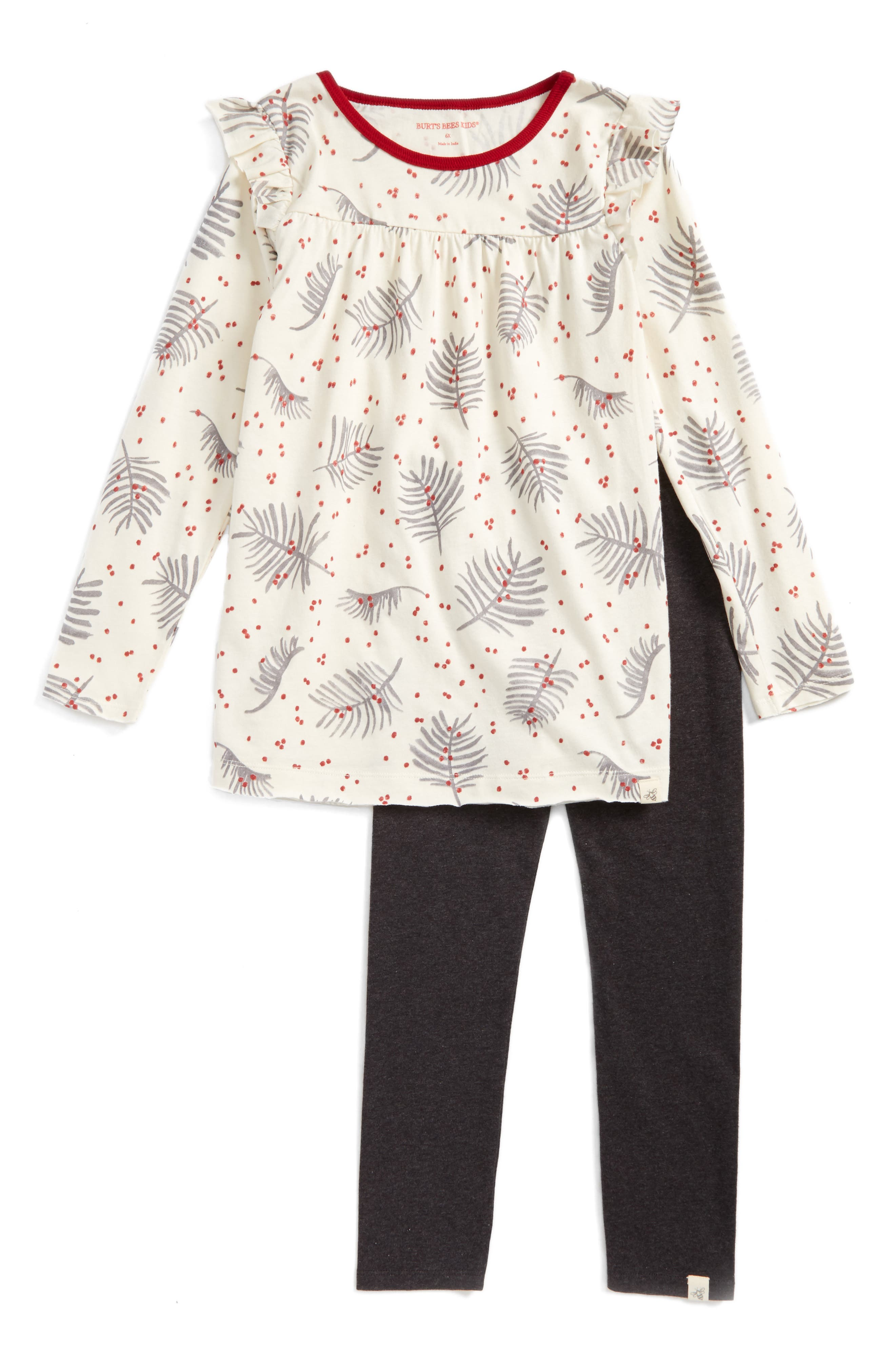 Burt's Bees Baby Pine Leaves Organic Cotton Tunic & Legging Set (Toddler Girls & Little Girls)