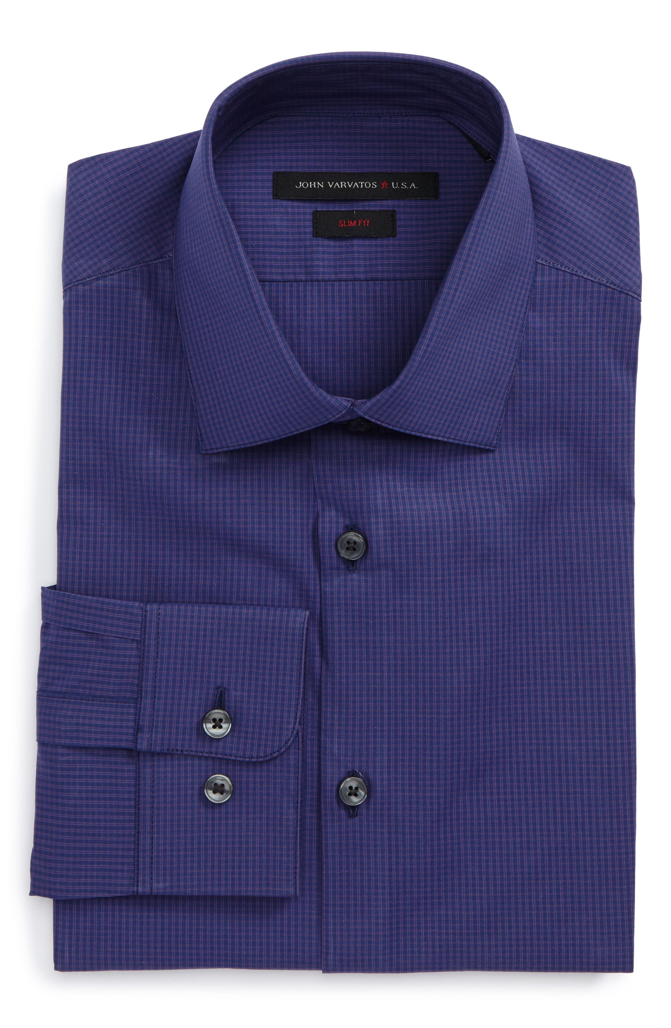 Alternate Image 1 Selected - John Varvatos Star USA Slim Fit Stretch Check Dress Shirt