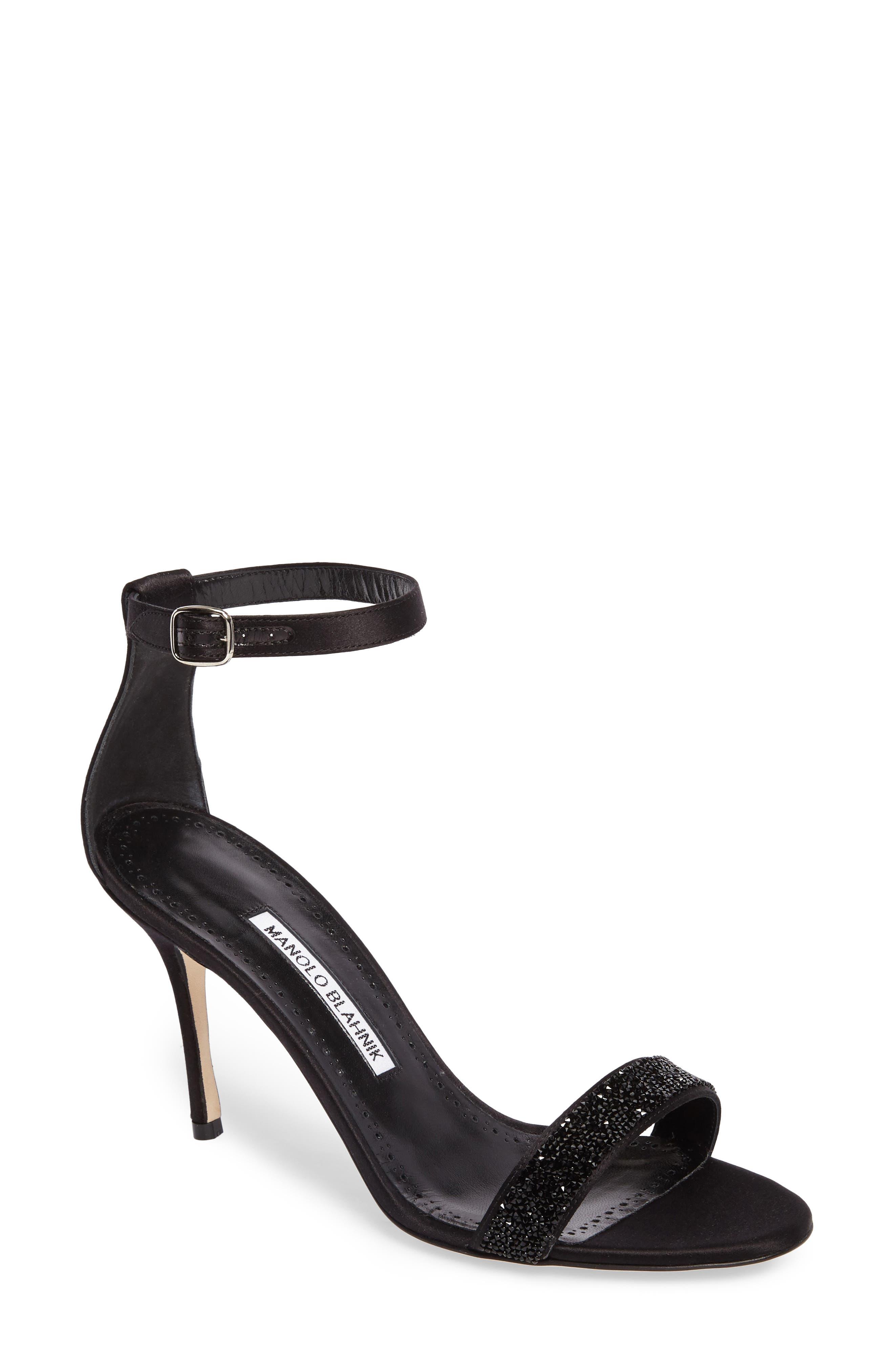 Manolo Blahnik Chaos Ankle Strap Sandal (Women)