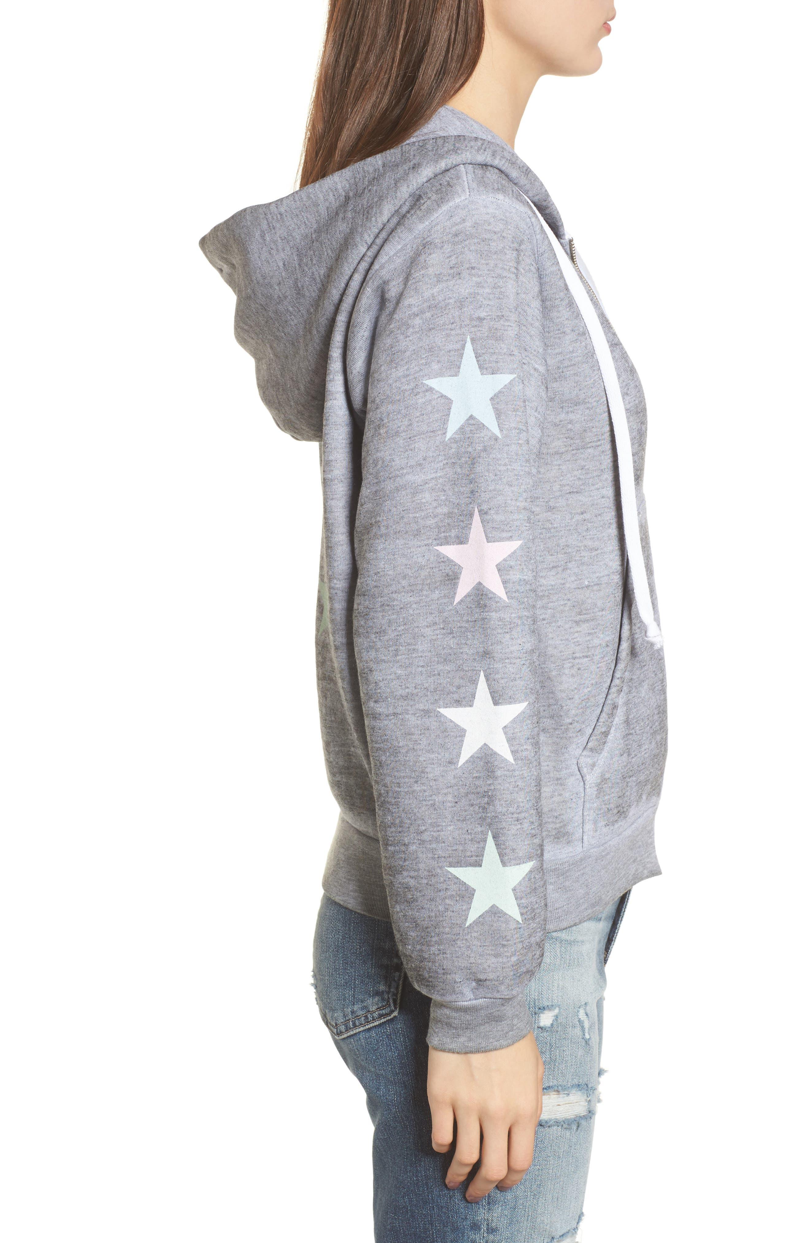Alternate Image 3  - Wildfox Starlight Regan Zip Hoodie