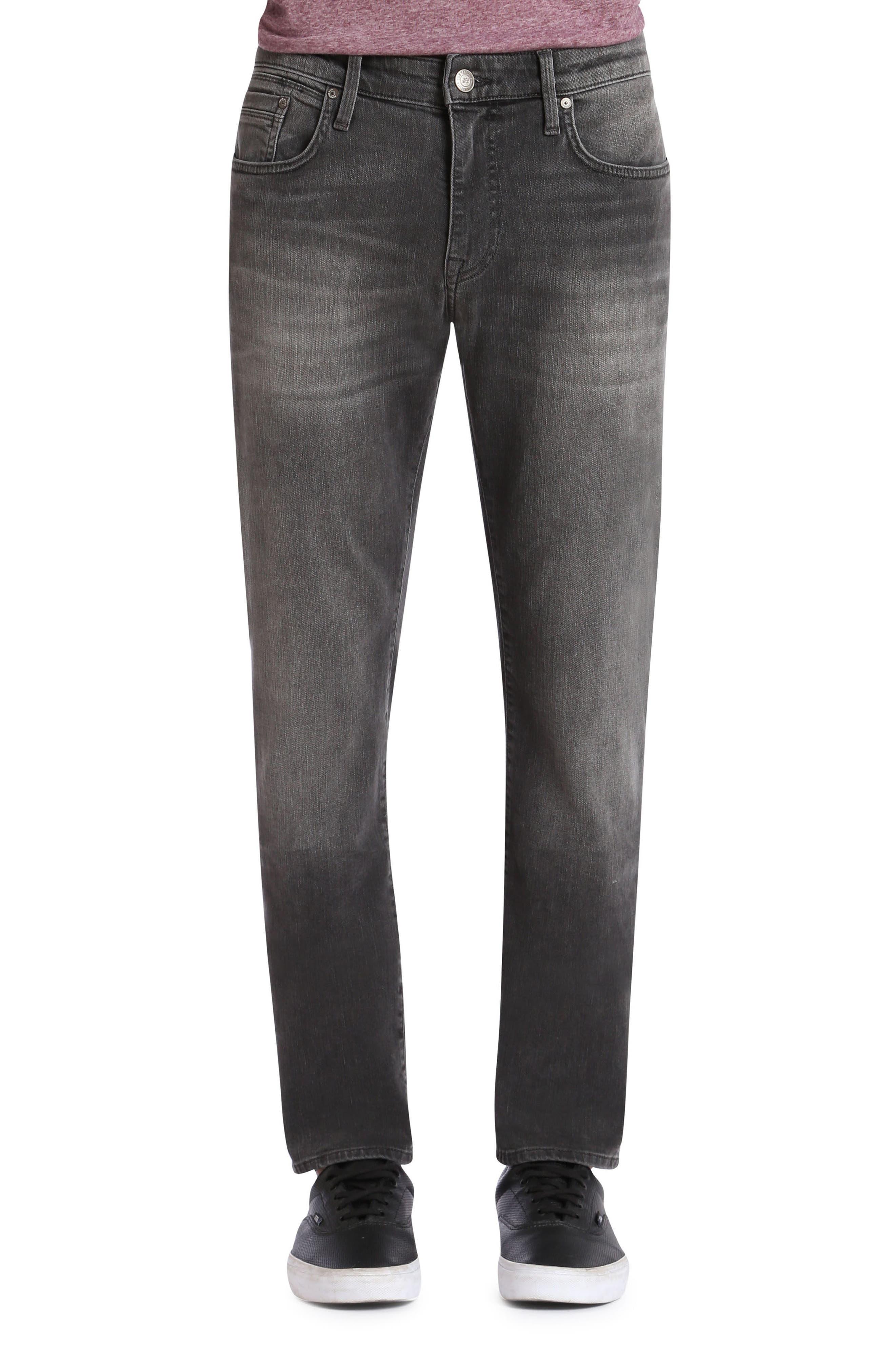 Main Image - Mavi Jeans Jake Slim Fit Jeans (Grey Distressed Williamsburg)
