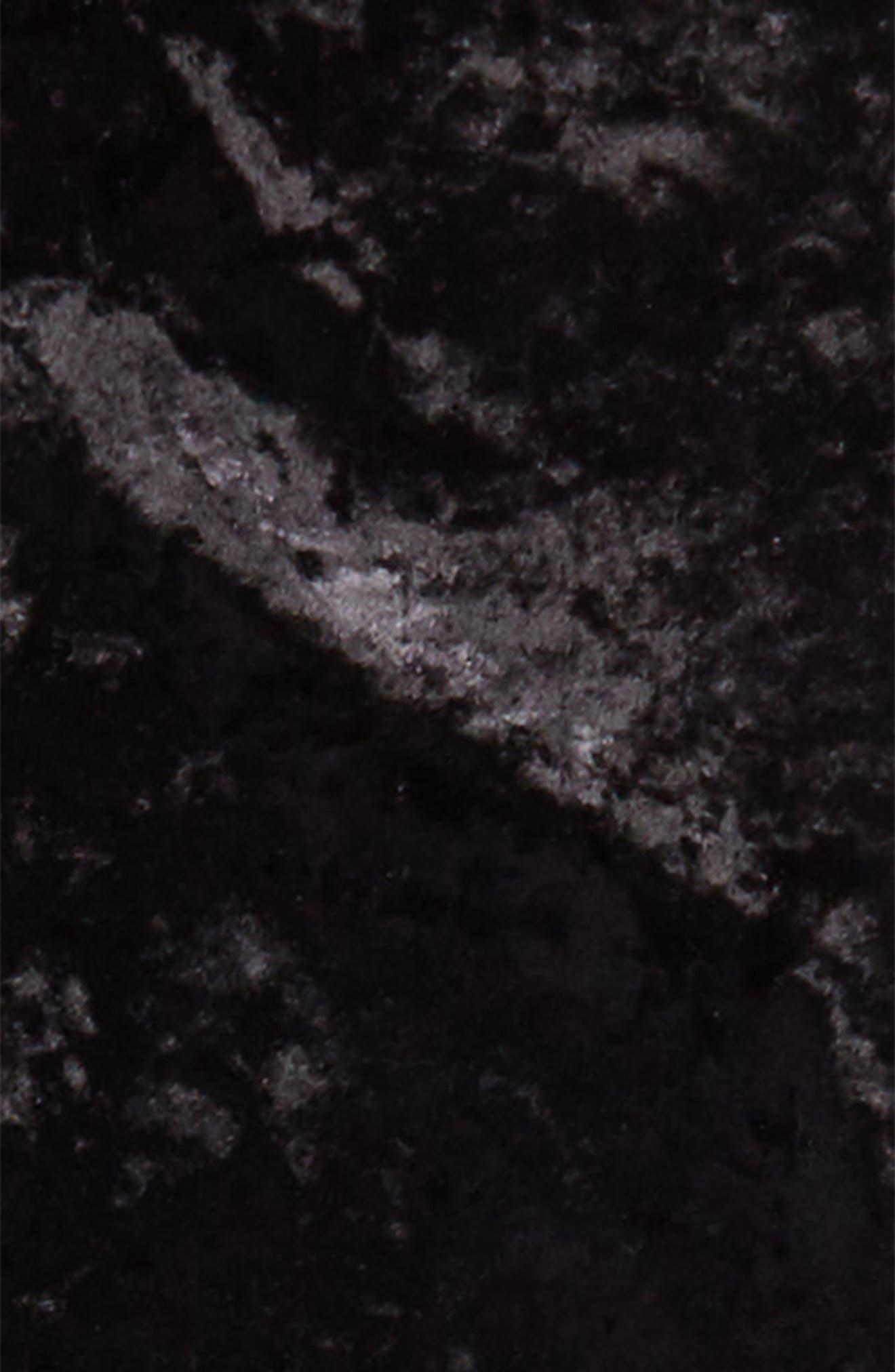 Crushed Velvet Skinny Pants,                             Alternate thumbnail 2, color,                             Black