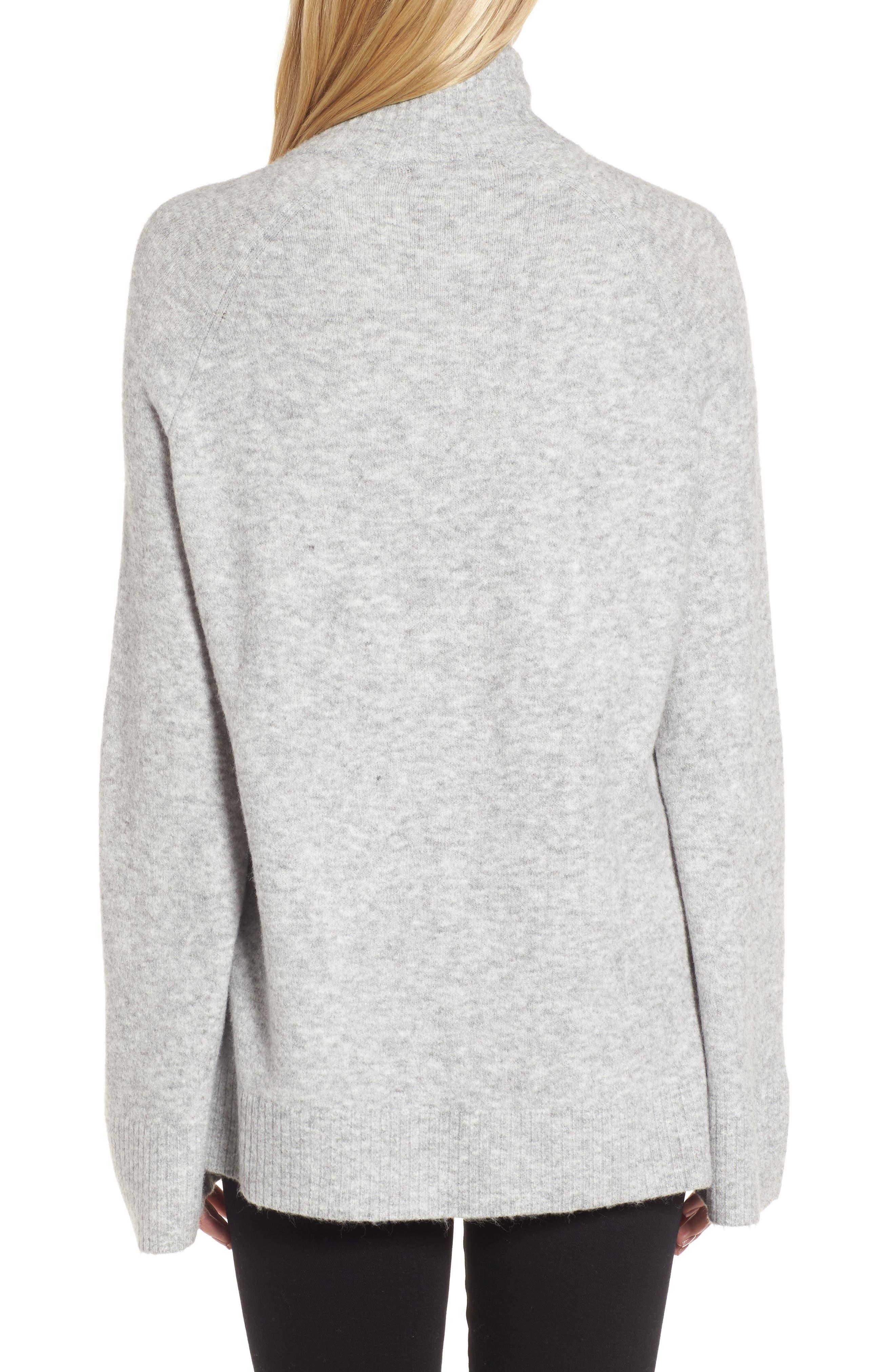 Half Zip Pullover,                             Alternate thumbnail 2, color,                             Grey Heather