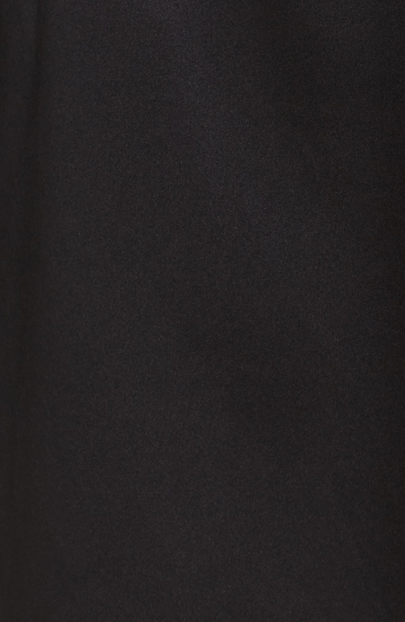 Langley Silk Charmeuse Short Robe,                             Alternate thumbnail 5, color,                             Noir