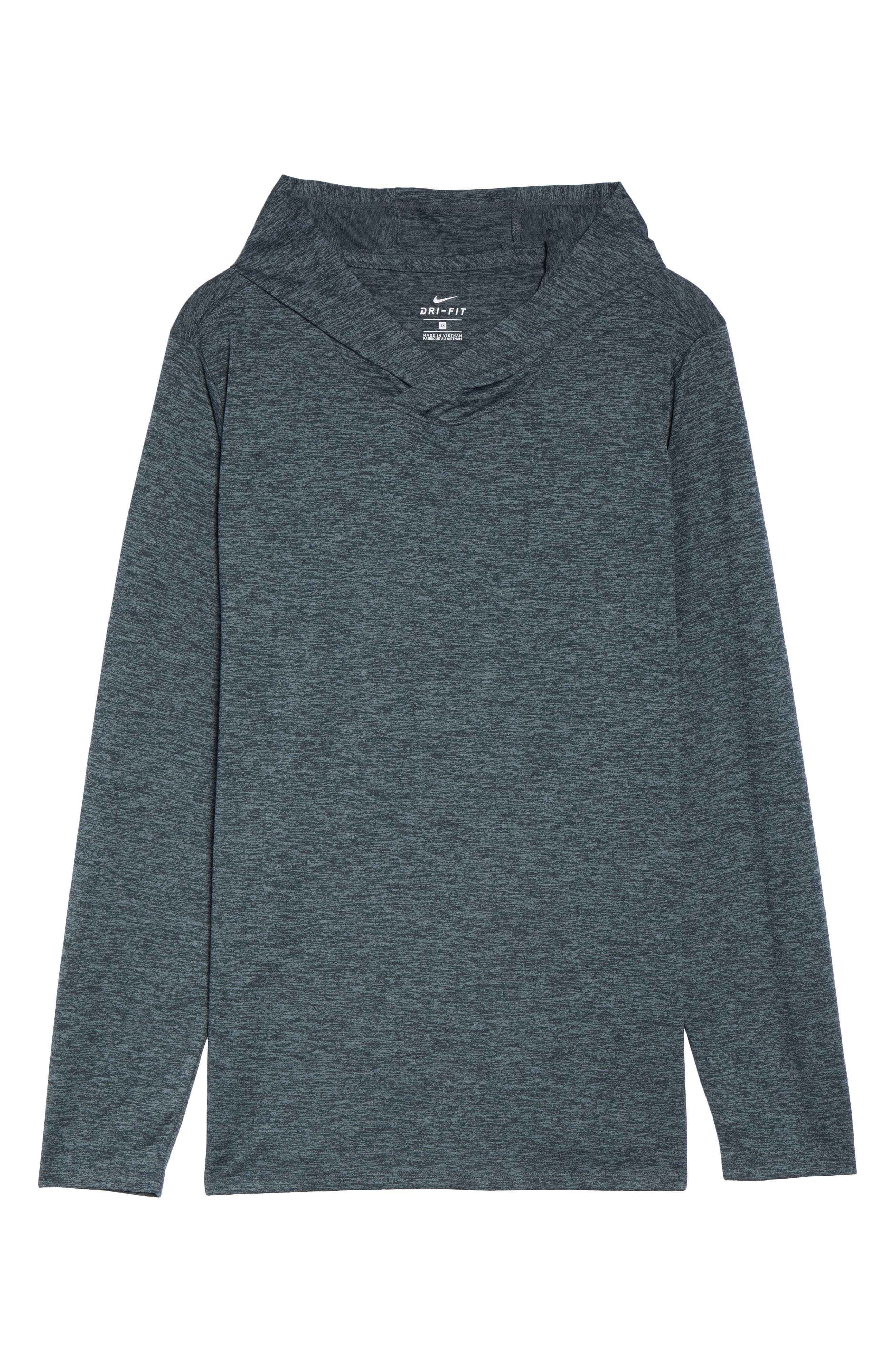 Dry Training Hoodie,                             Alternate thumbnail 7, color,                             Black/ Cool Grey/ White