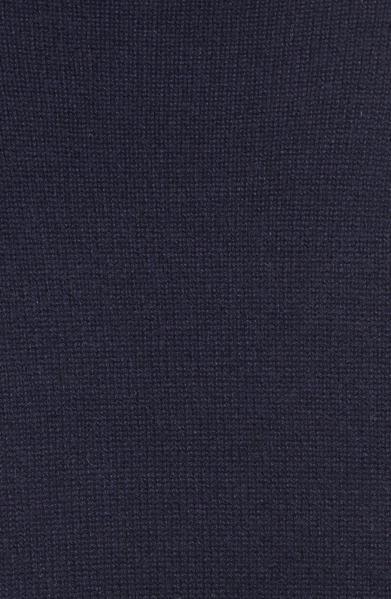Side Tie Cashmere Sweater,                             Alternate thumbnail 5, color,                             Midnight