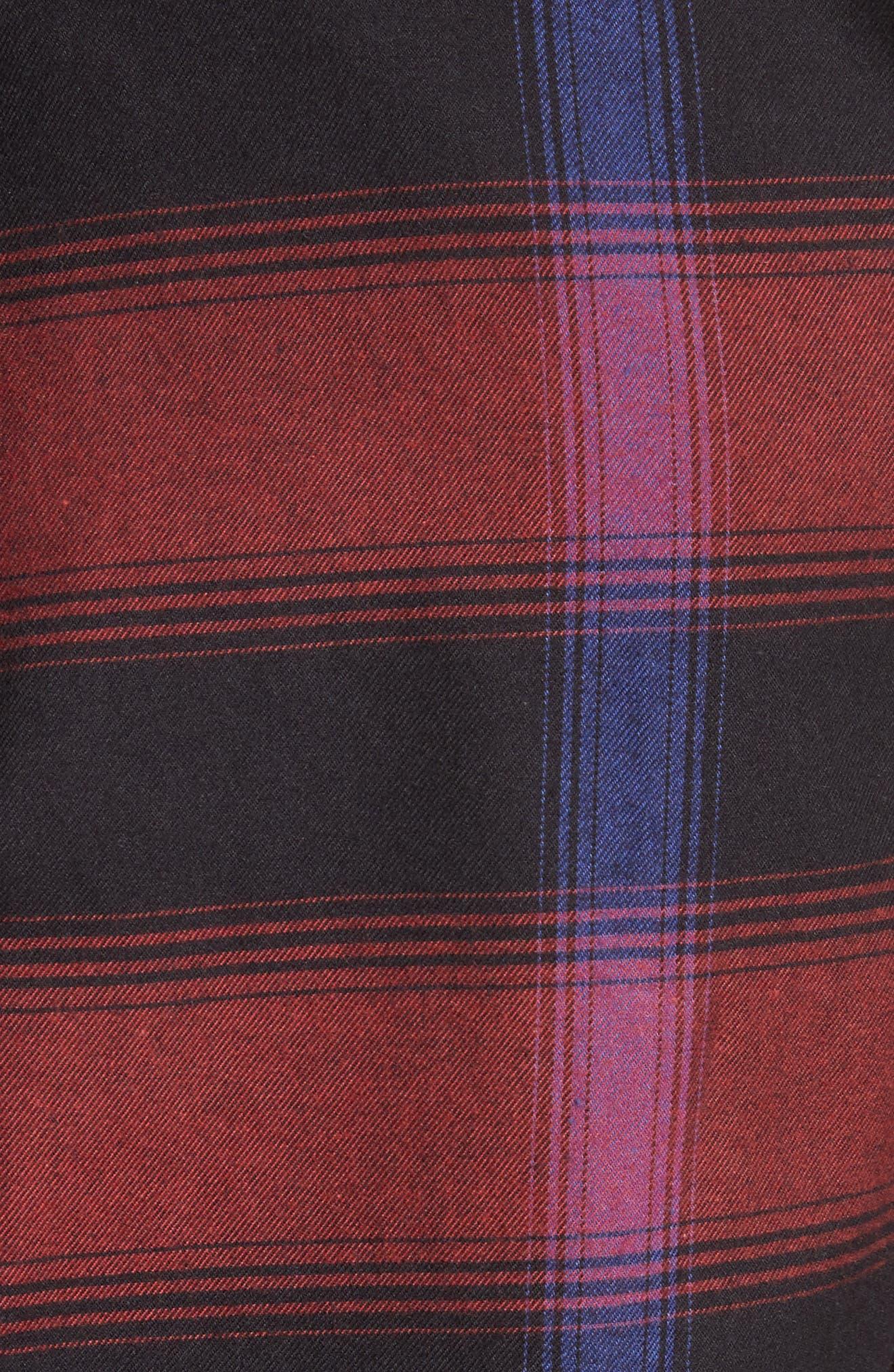 Alternate Image 5  - Burberry Strenton Slim Fit Plaid Long Sport Shirt