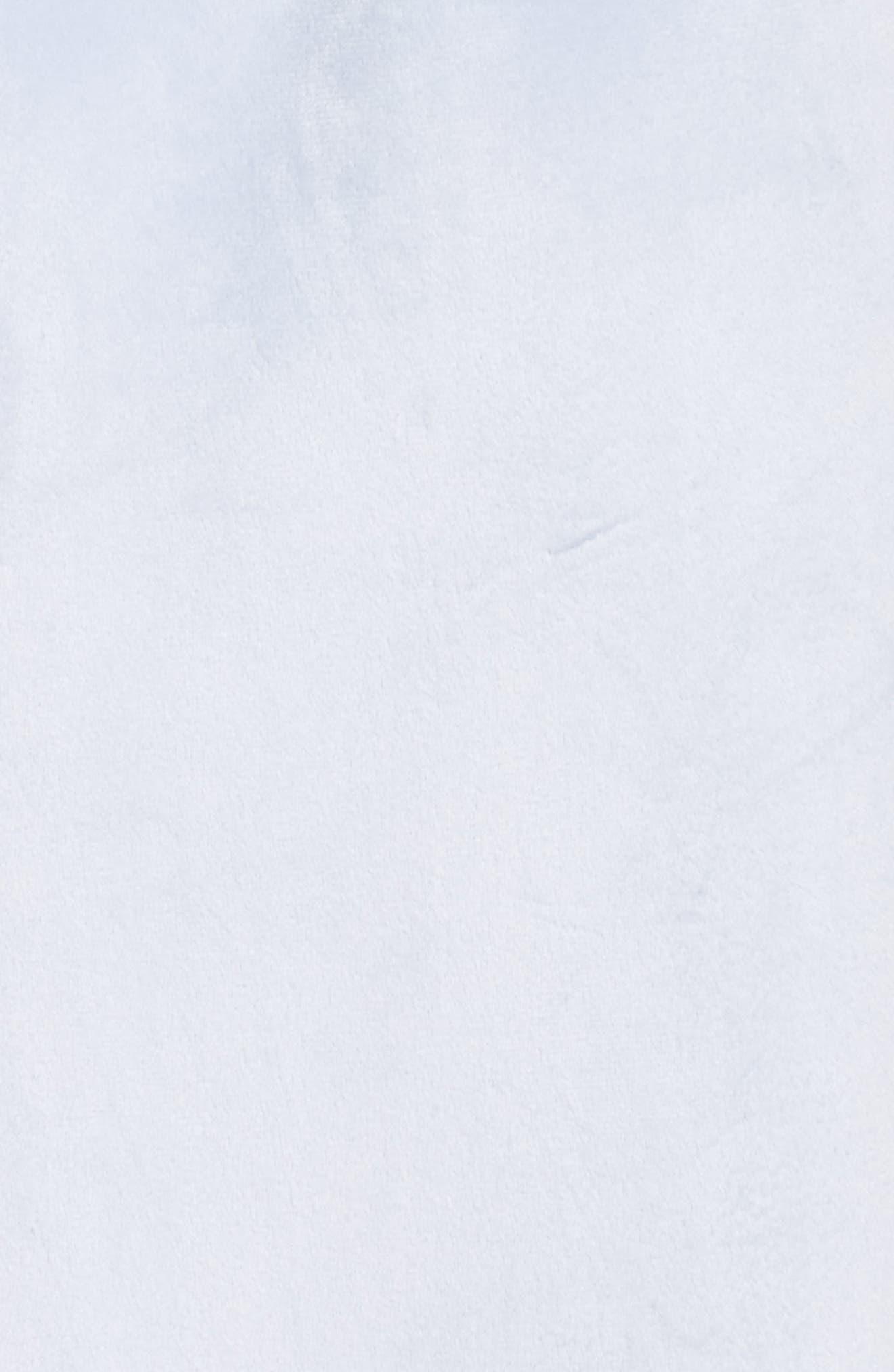 Wintertide Plush Robe,                             Alternate thumbnail 6, color,                             Blue Xenon