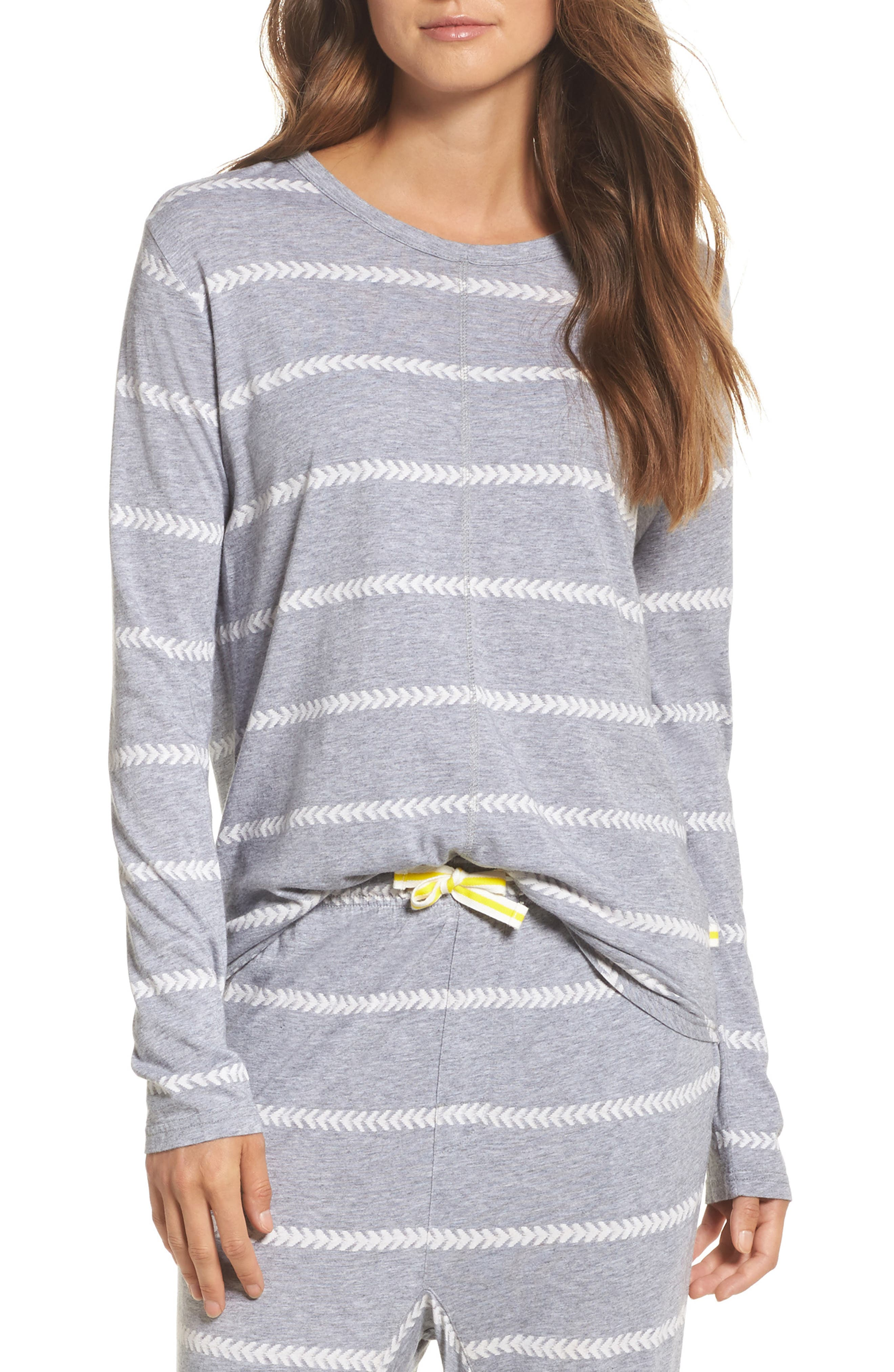Issy Tee,                         Main,                         color, Chevron Stripe Grey