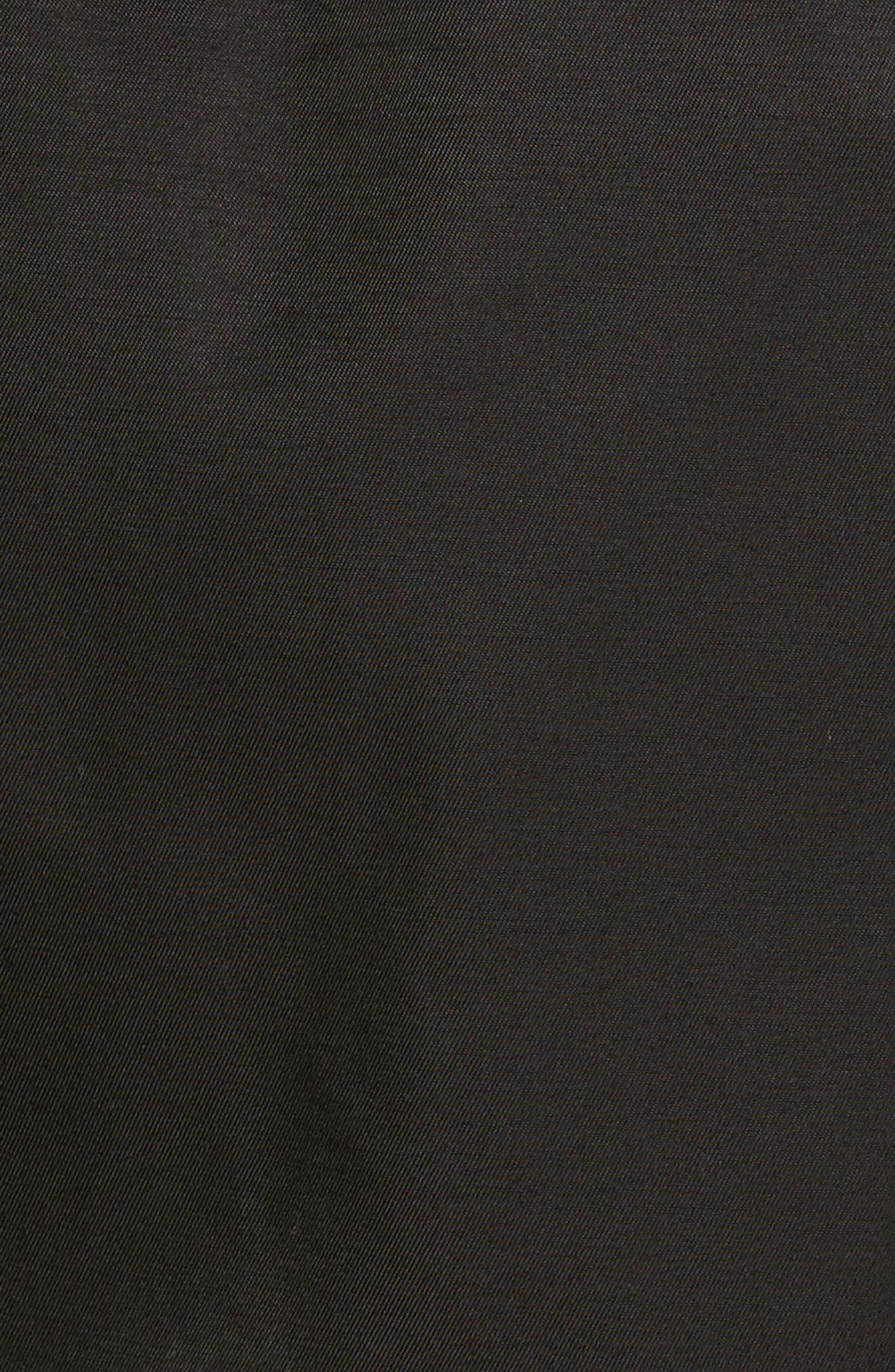 Trench Coat,                             Alternate thumbnail 5, color,                             Black