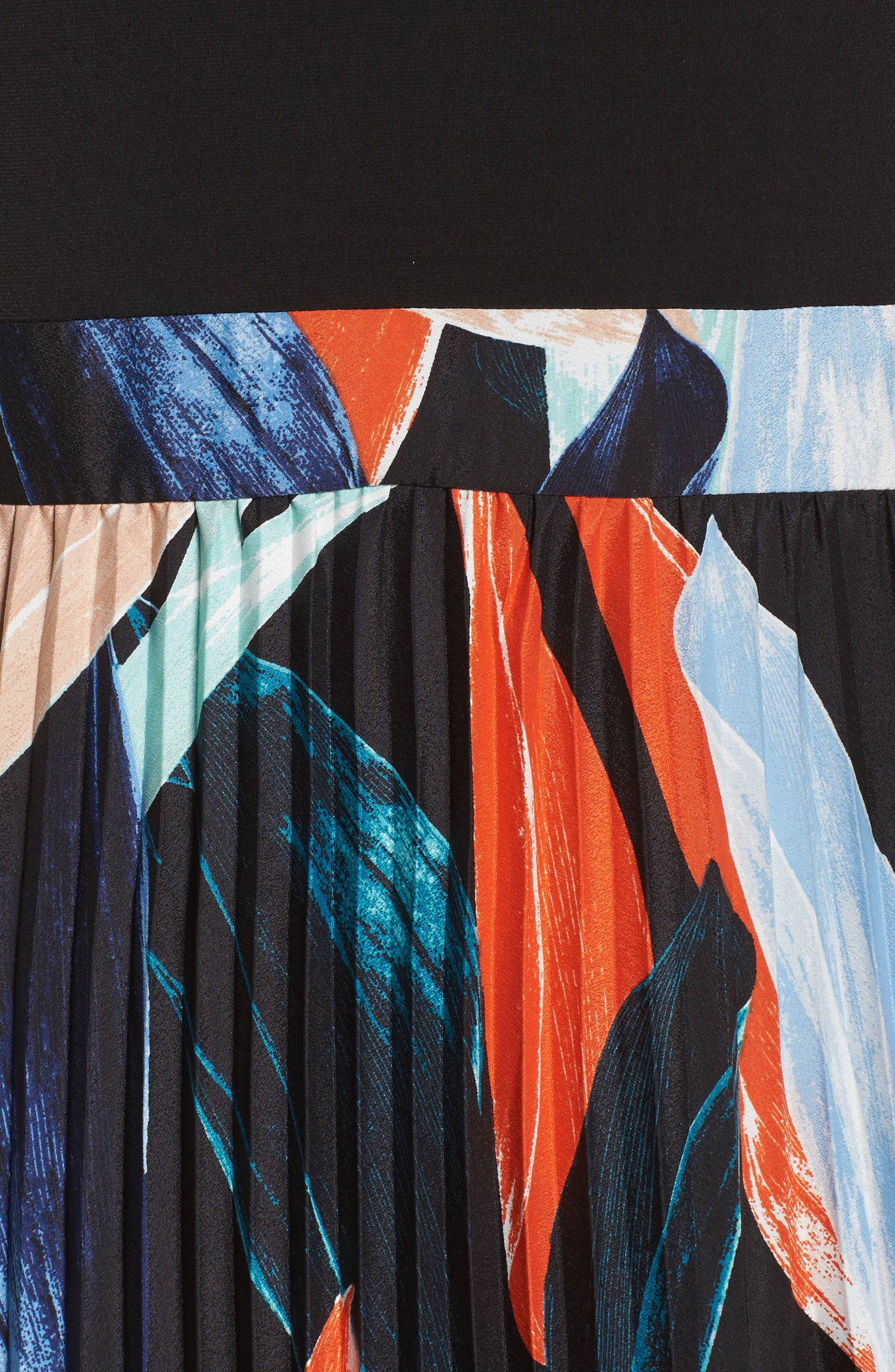 Alternate Image 6  - Vince Camuto Pleated Maxi Dress (Regular & Petite)