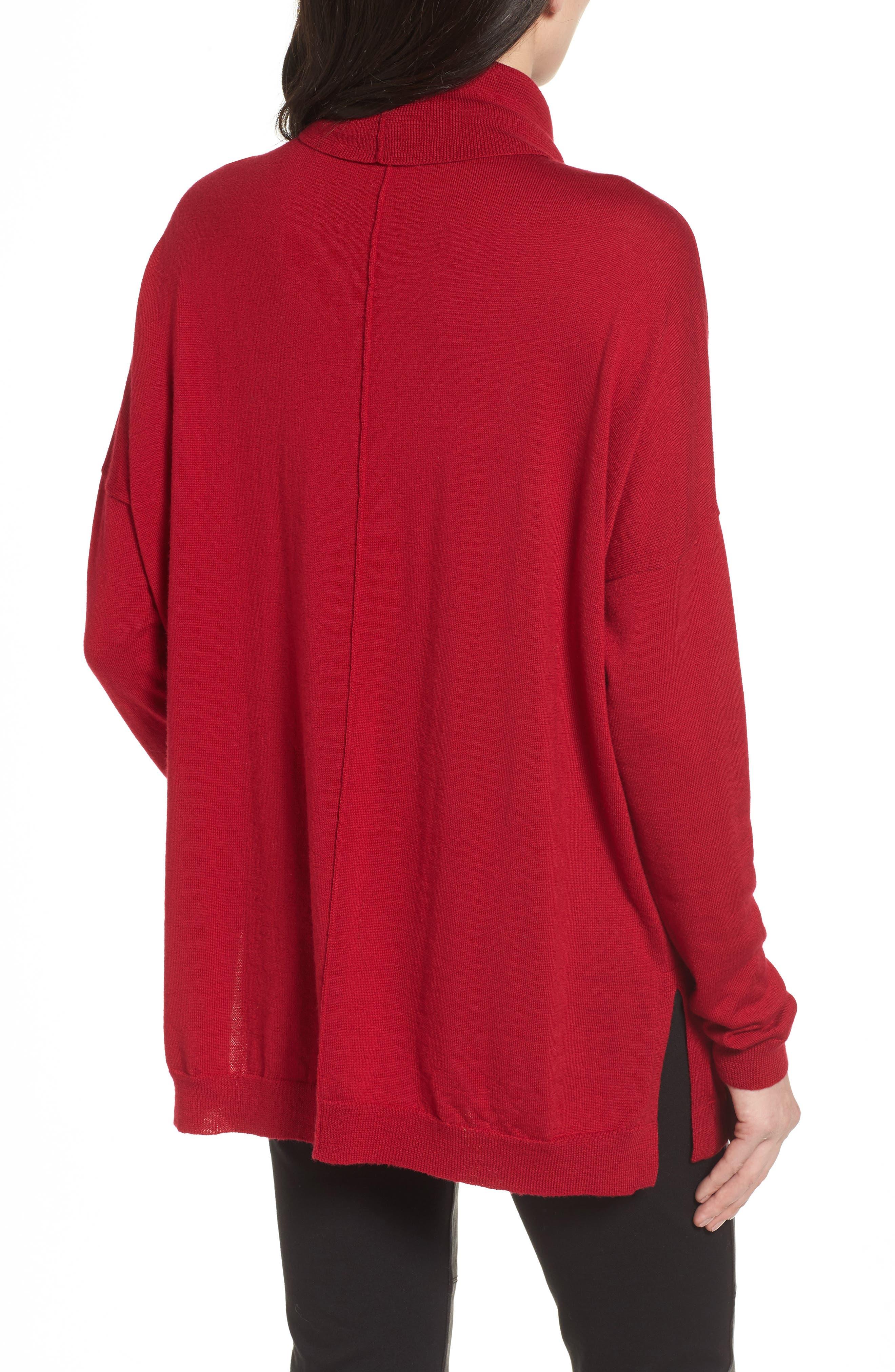 Alternate Image 2  - Eileen Fisher Merino Wool Boxy Turtleneck Sweater (Regular & Petite)