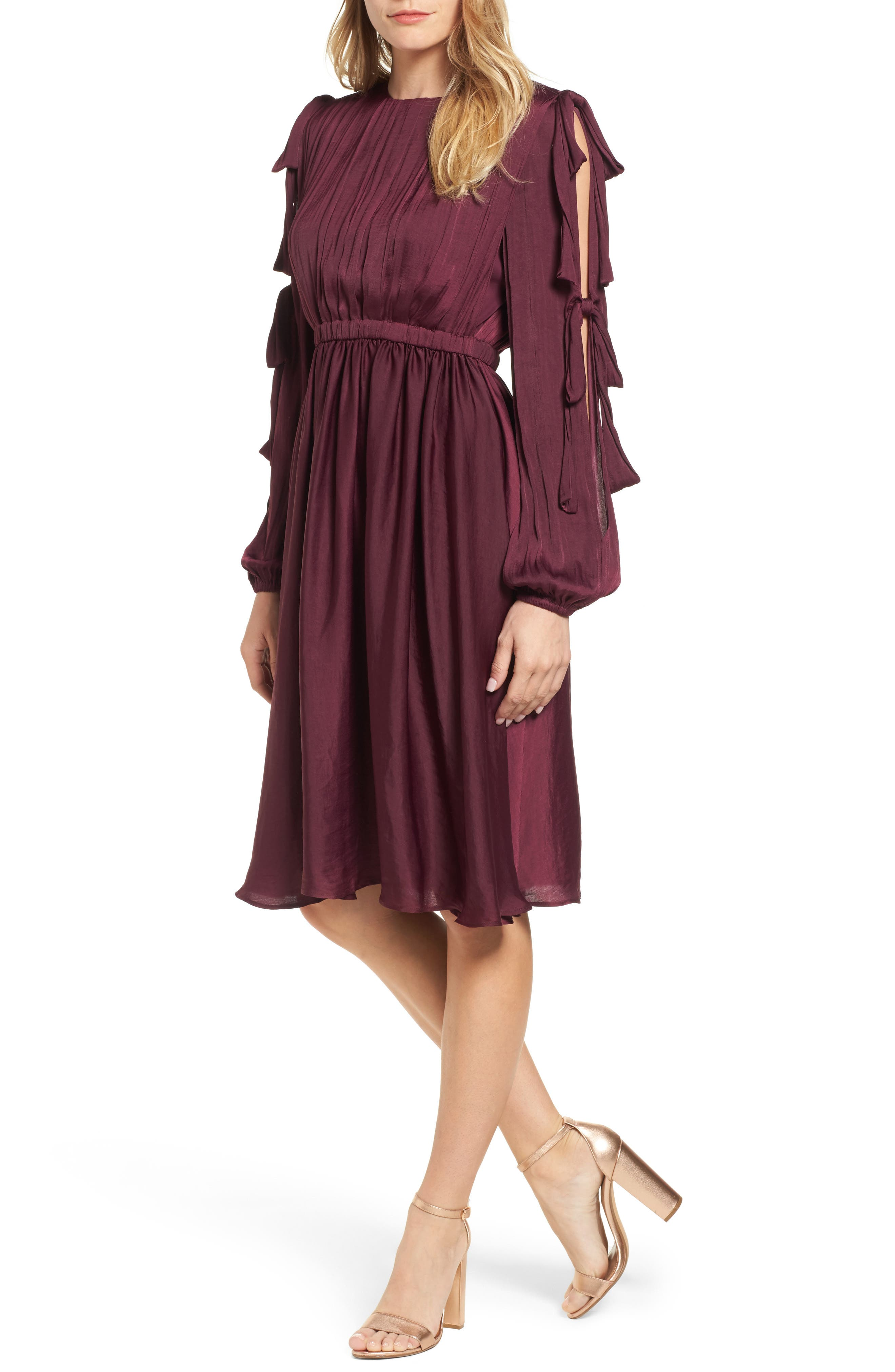 Mena Dress,                         Main,                         color, Grape Wine